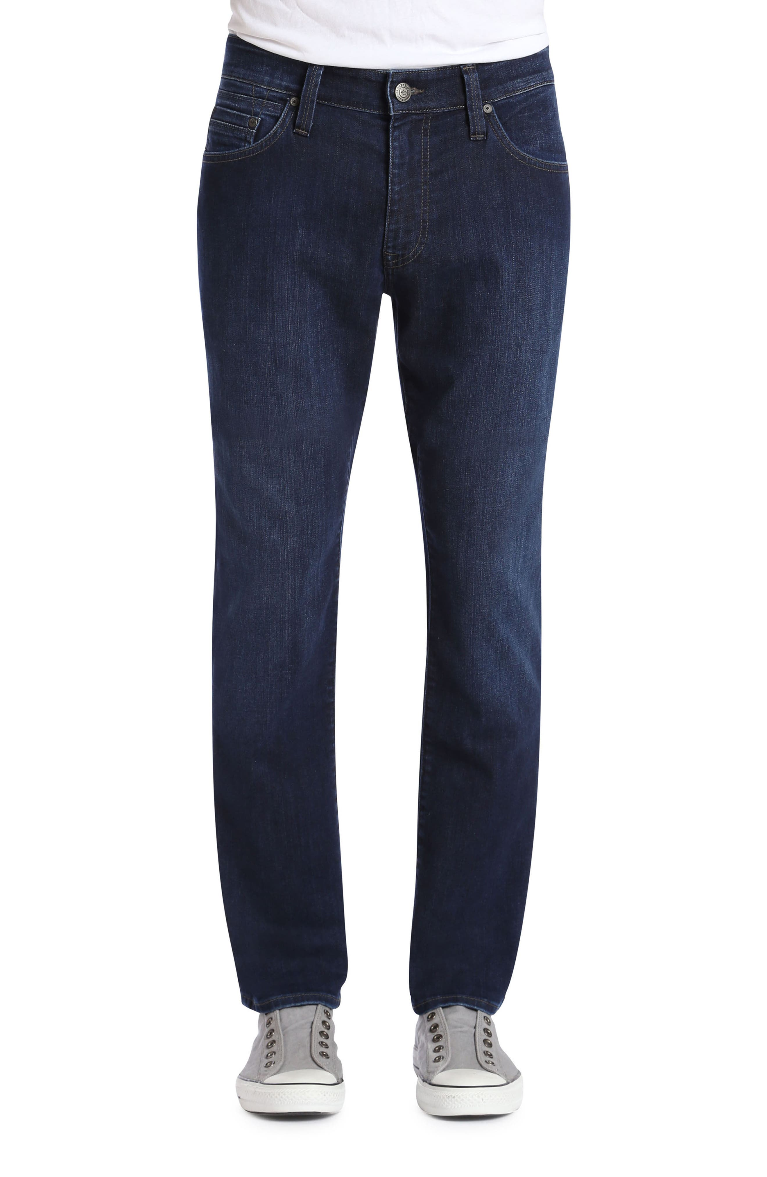 Zach Straight Fit Jeans,                         Main,                         color, Deep Clean Comfort
