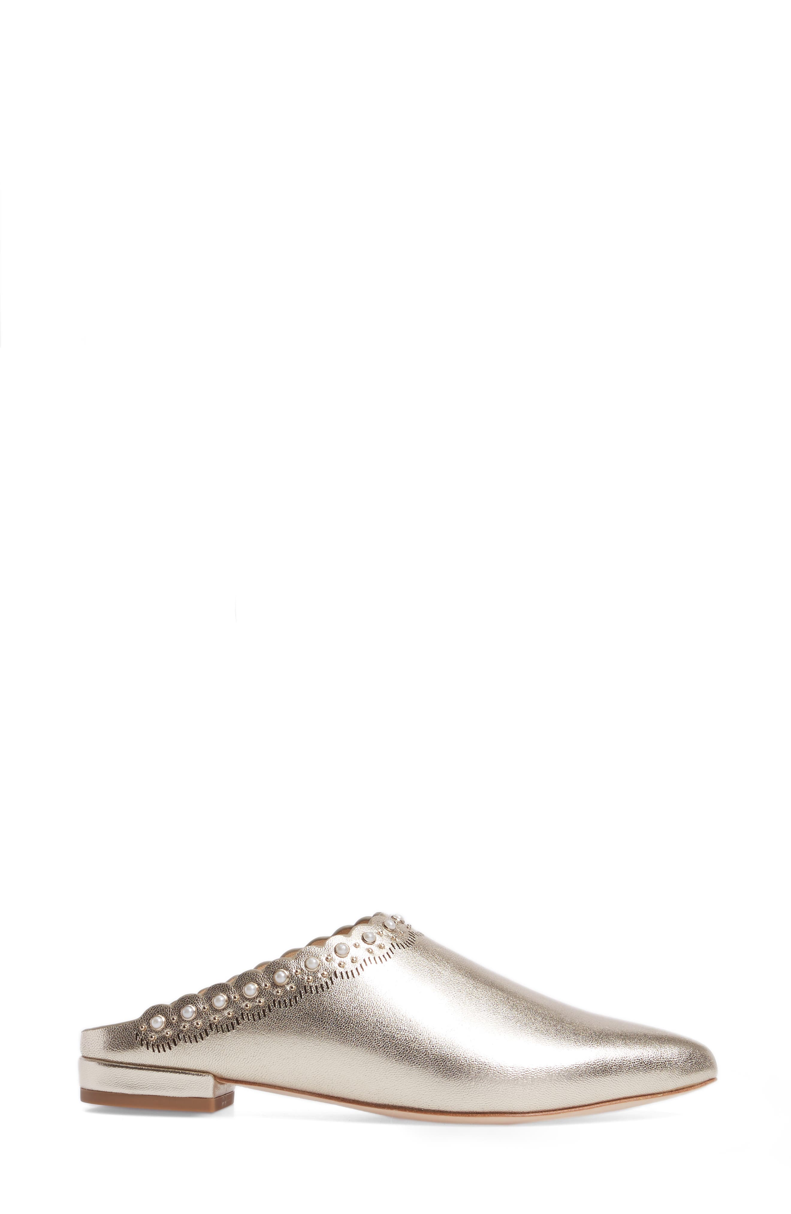 Giselle Mule,                             Alternate thumbnail 3, color,                             Champagne Leather