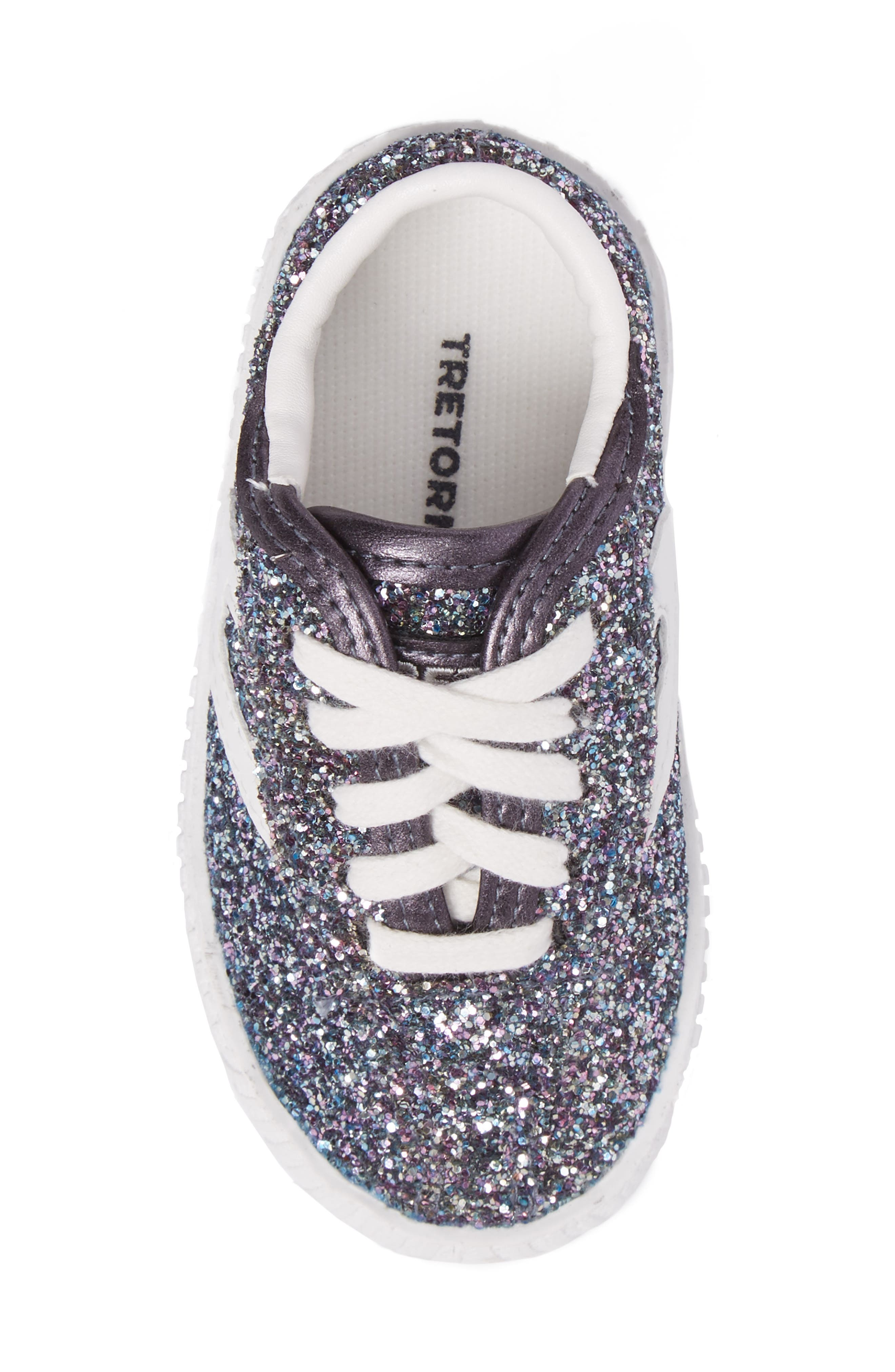 Nylite Sugar Glitter Sneaker,                             Alternate thumbnail 5, color,                             Dark Grey Glitter
