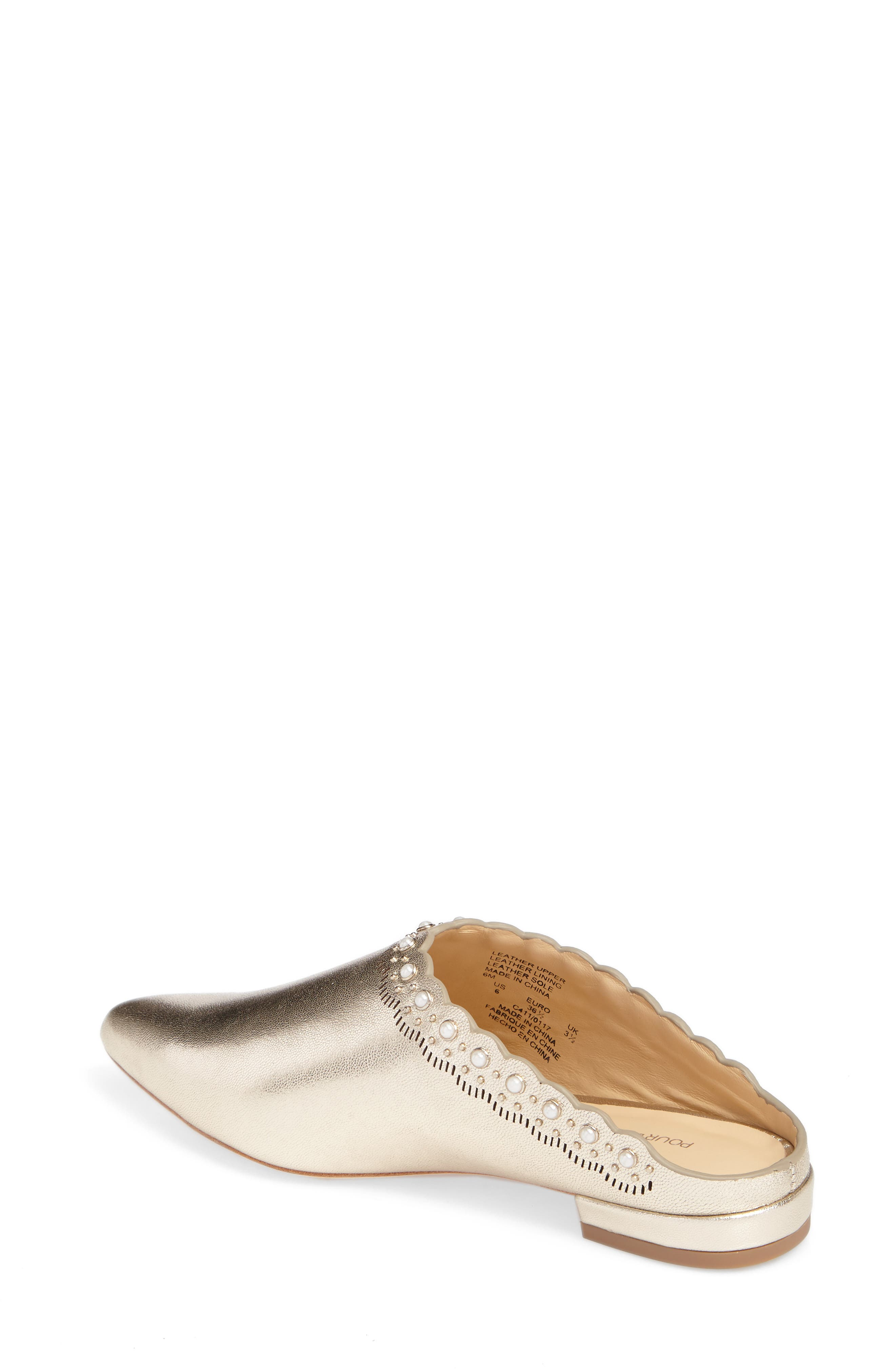 Giselle Mule,                             Alternate thumbnail 2, color,                             Champagne Leather