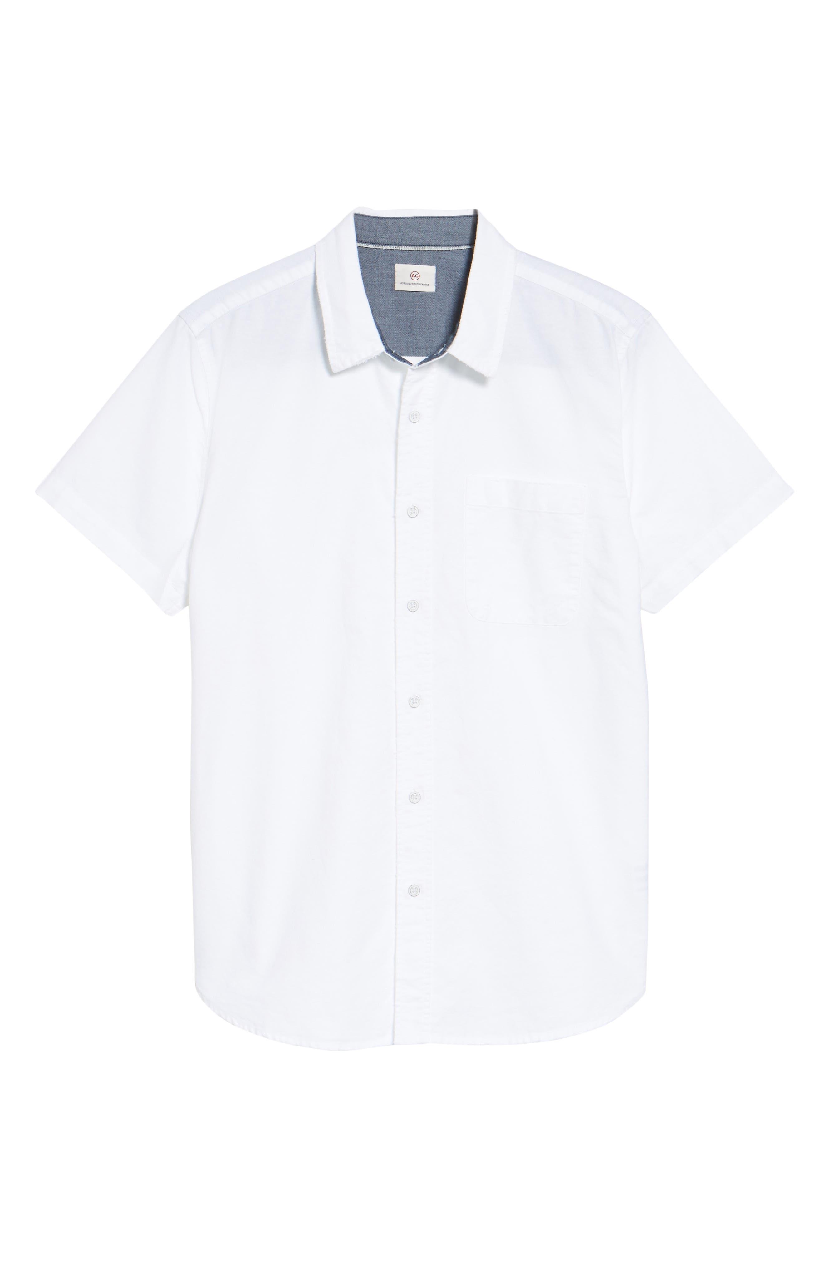 Alternate Image 5  - AG Nash Slim Fit Sport Shirt