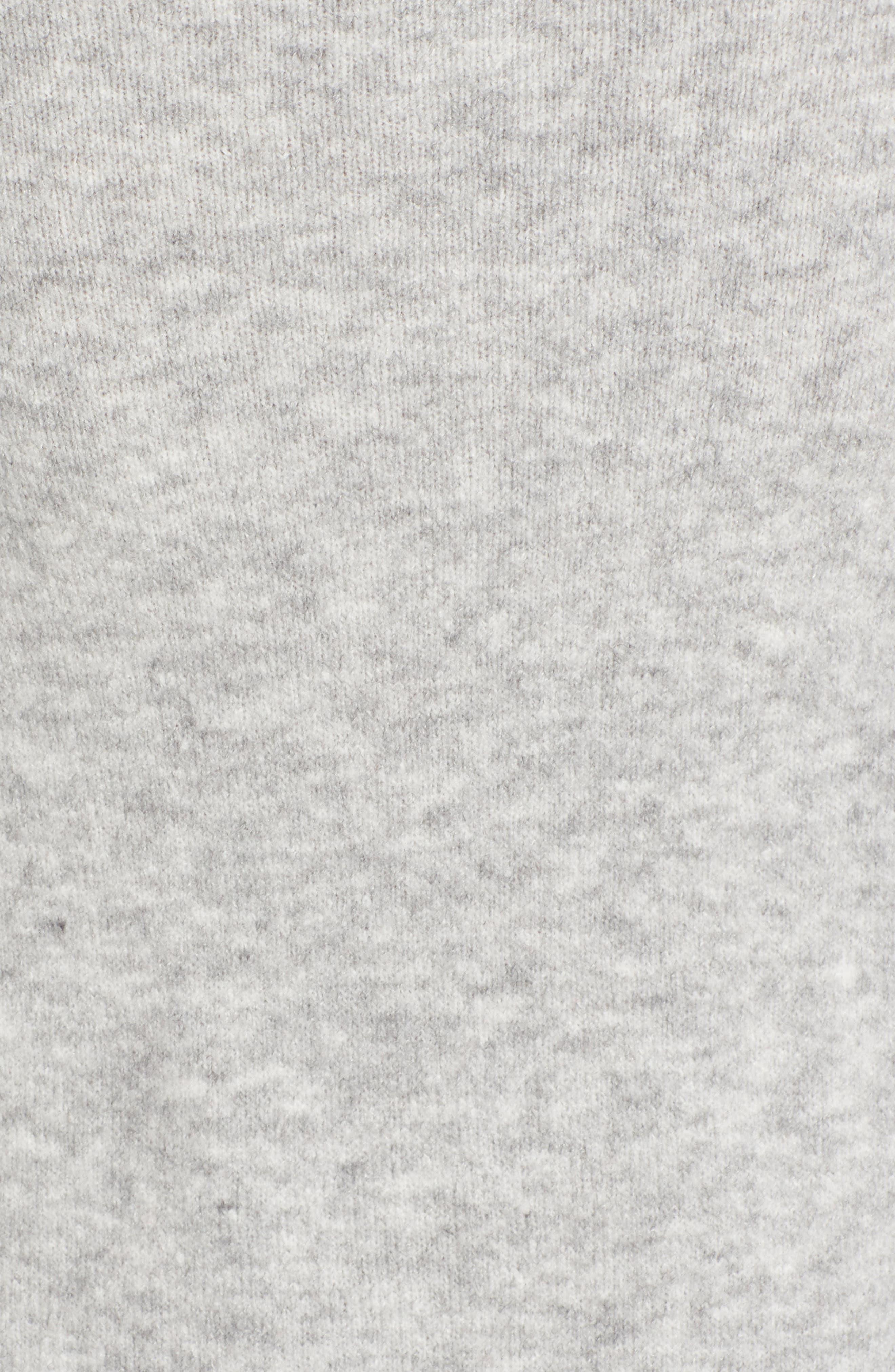 Half Zip Pullover,                             Alternate thumbnail 5, color,                             Grey Heather