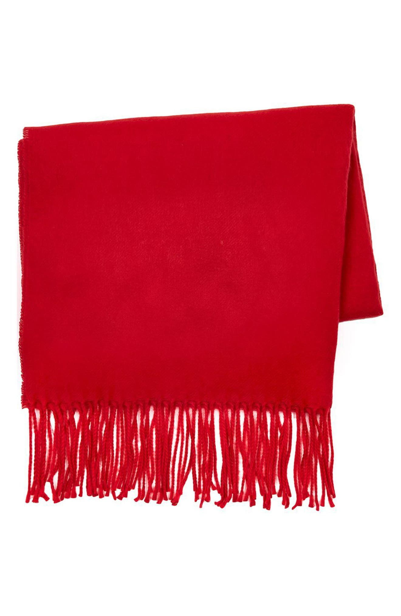 Fargo Scarf,                             Alternate thumbnail 5, color,                             Red