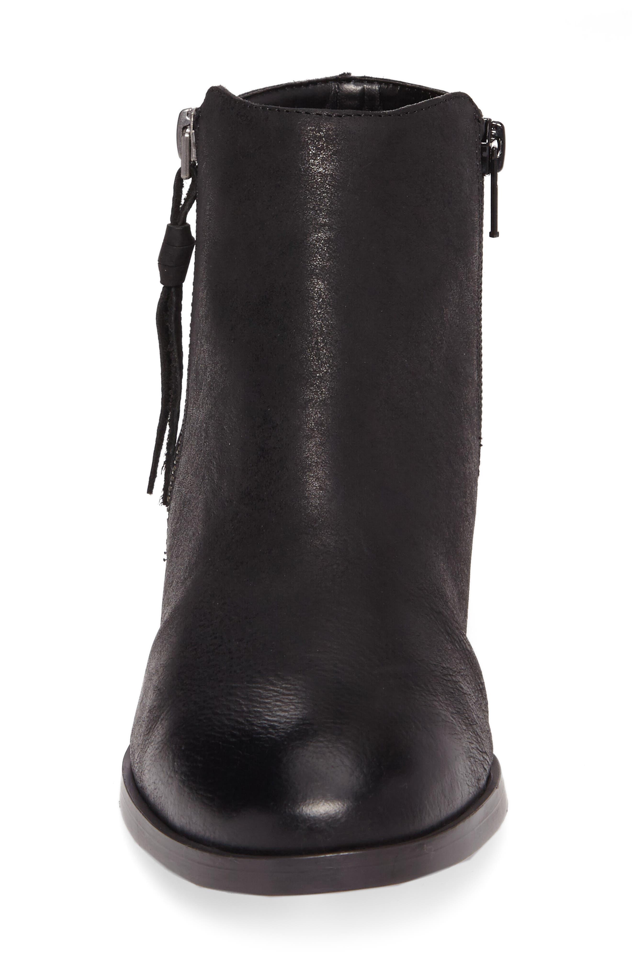 Abbott Bootie,                             Alternate thumbnail 4, color,                             Black Leather
