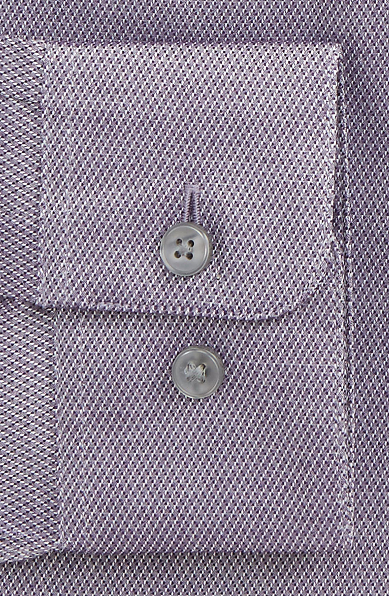 Slim Fit Stretch Geometric Dress Shirt,                             Alternate thumbnail 2, color,                             Purple