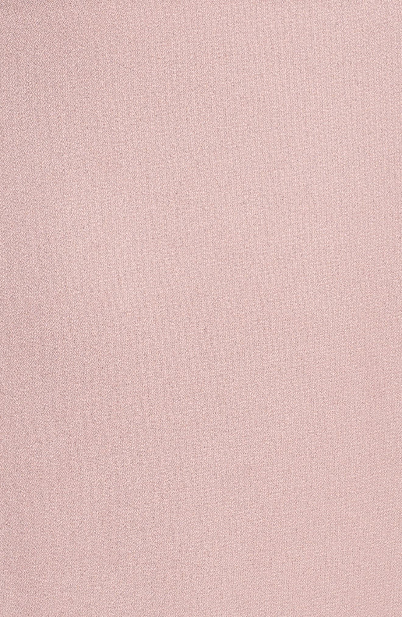 Danielle Off the Shoulder Tiered Crepe Dress,                             Alternate thumbnail 6, color,                             London Fog