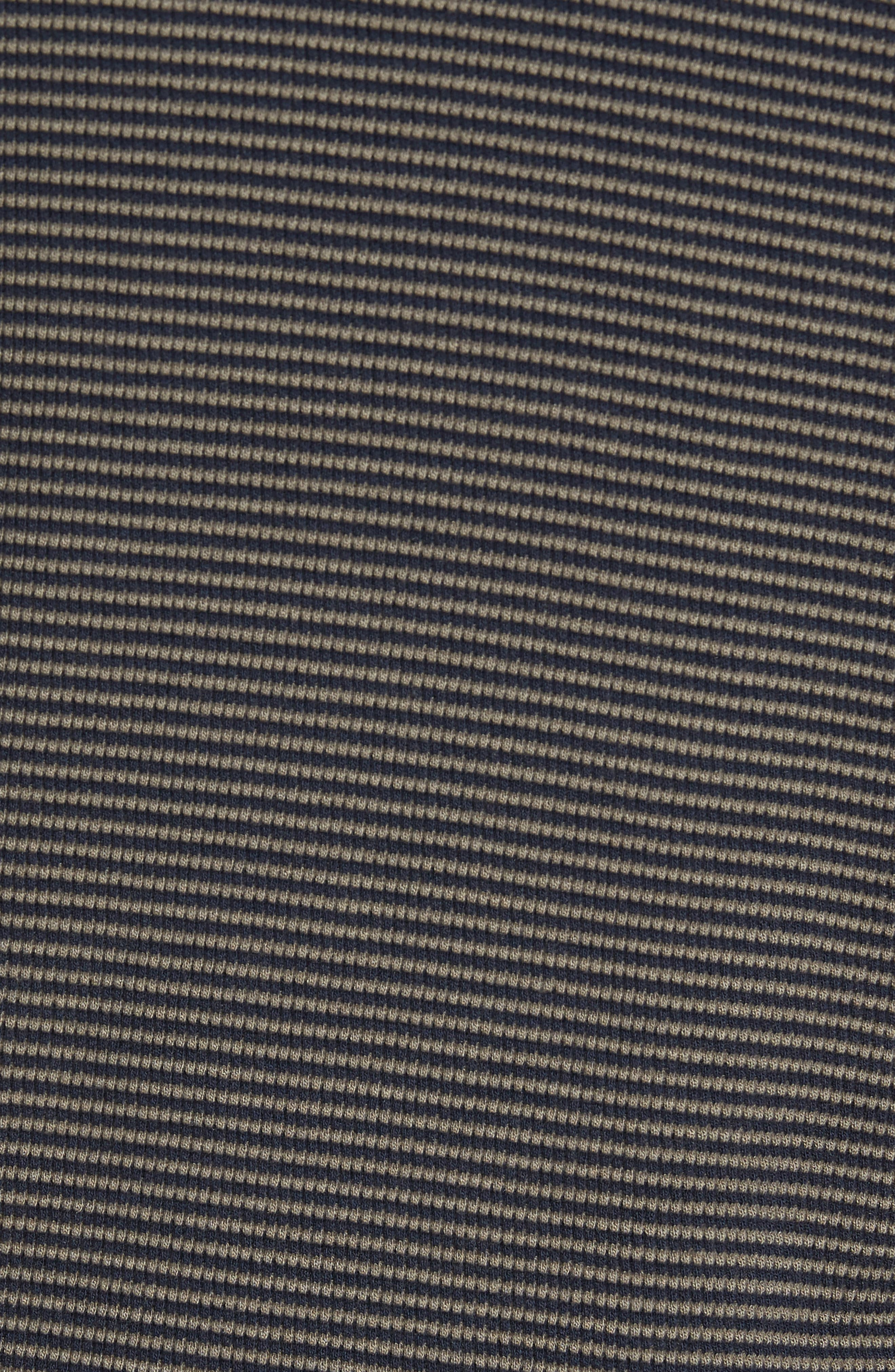 Slim Fit Waffle Knit T-Shirt,                             Alternate thumbnail 5, color,                             Oak/ Stormy Night