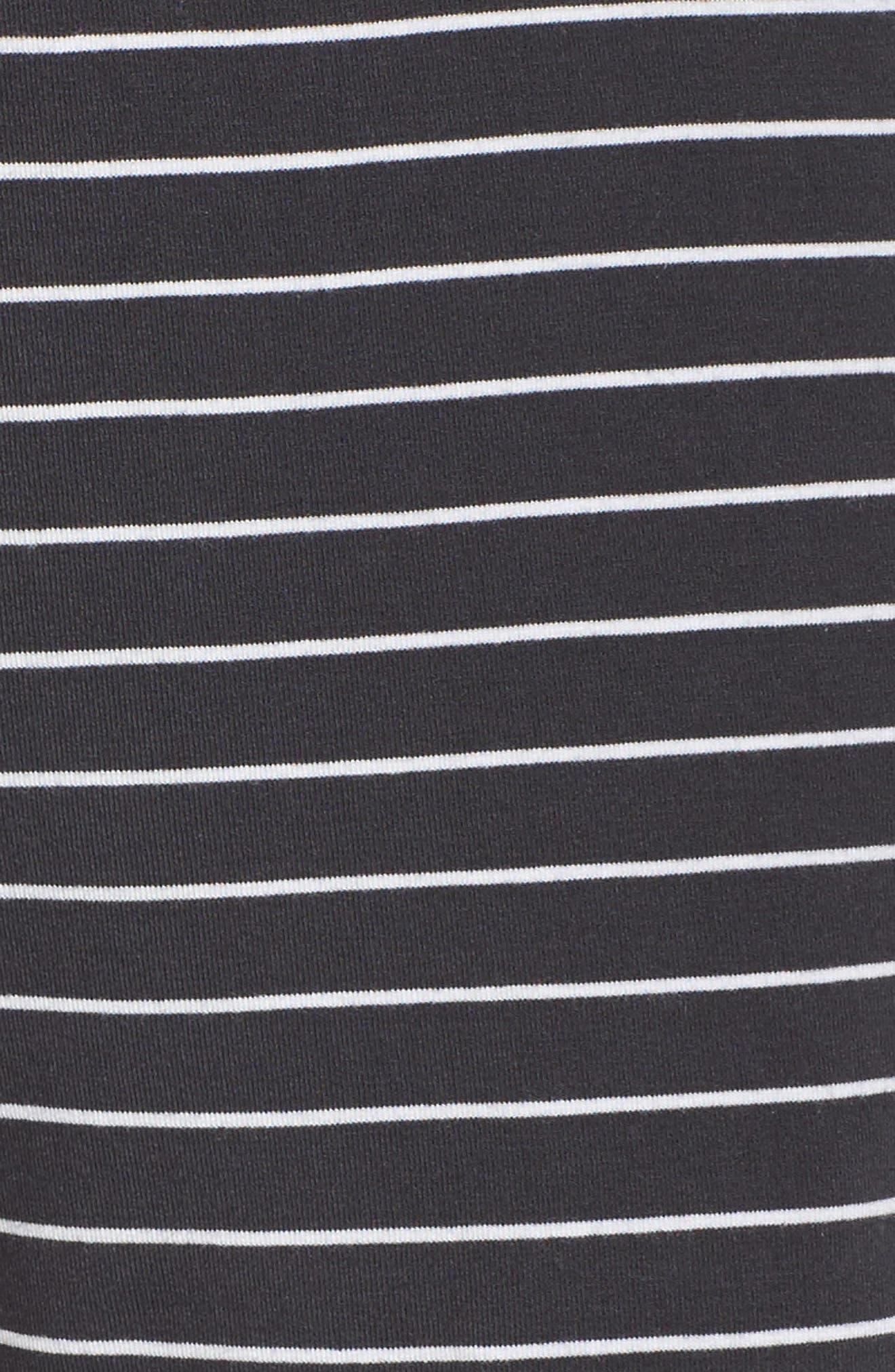 Stripe Jersey Shorts,                             Alternate thumbnail 6, color,                             Smoke