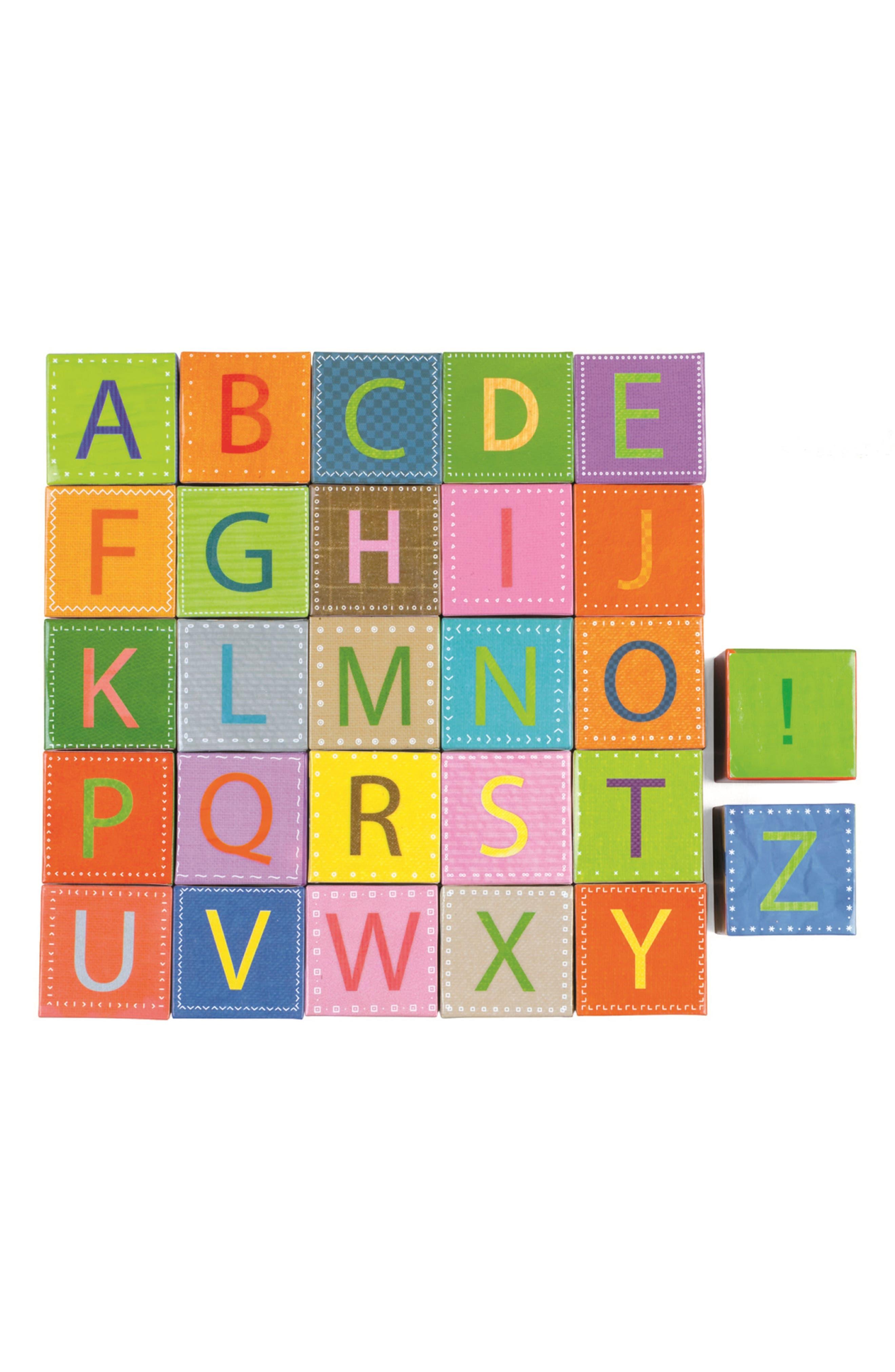 Kubkid 32-Piece Block Set,                             Alternate thumbnail 2, color,                             Orange Multi