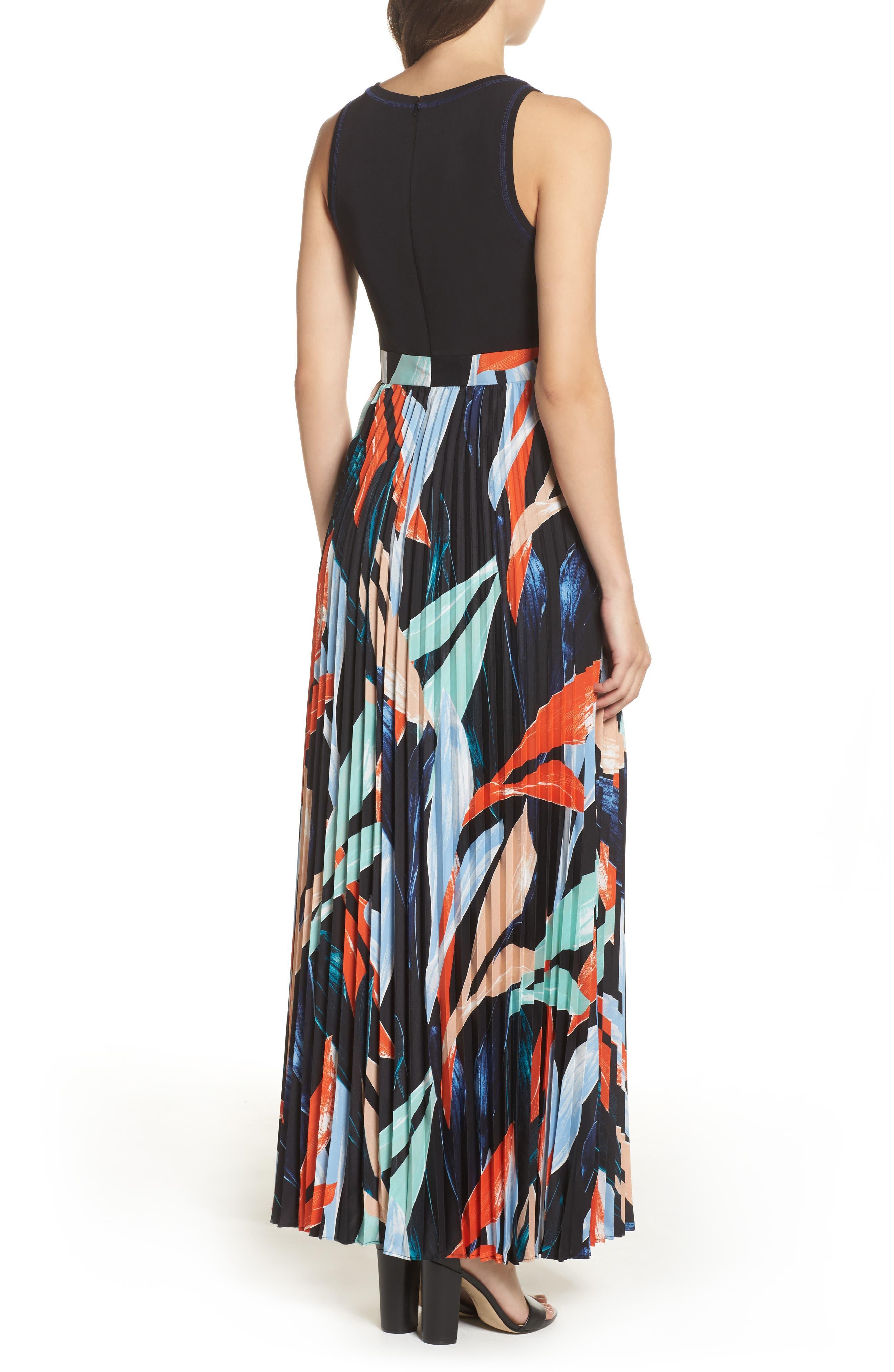 Alternate Image 3  - Vince Camuto Pleated Maxi Dress (Regular & Petite)