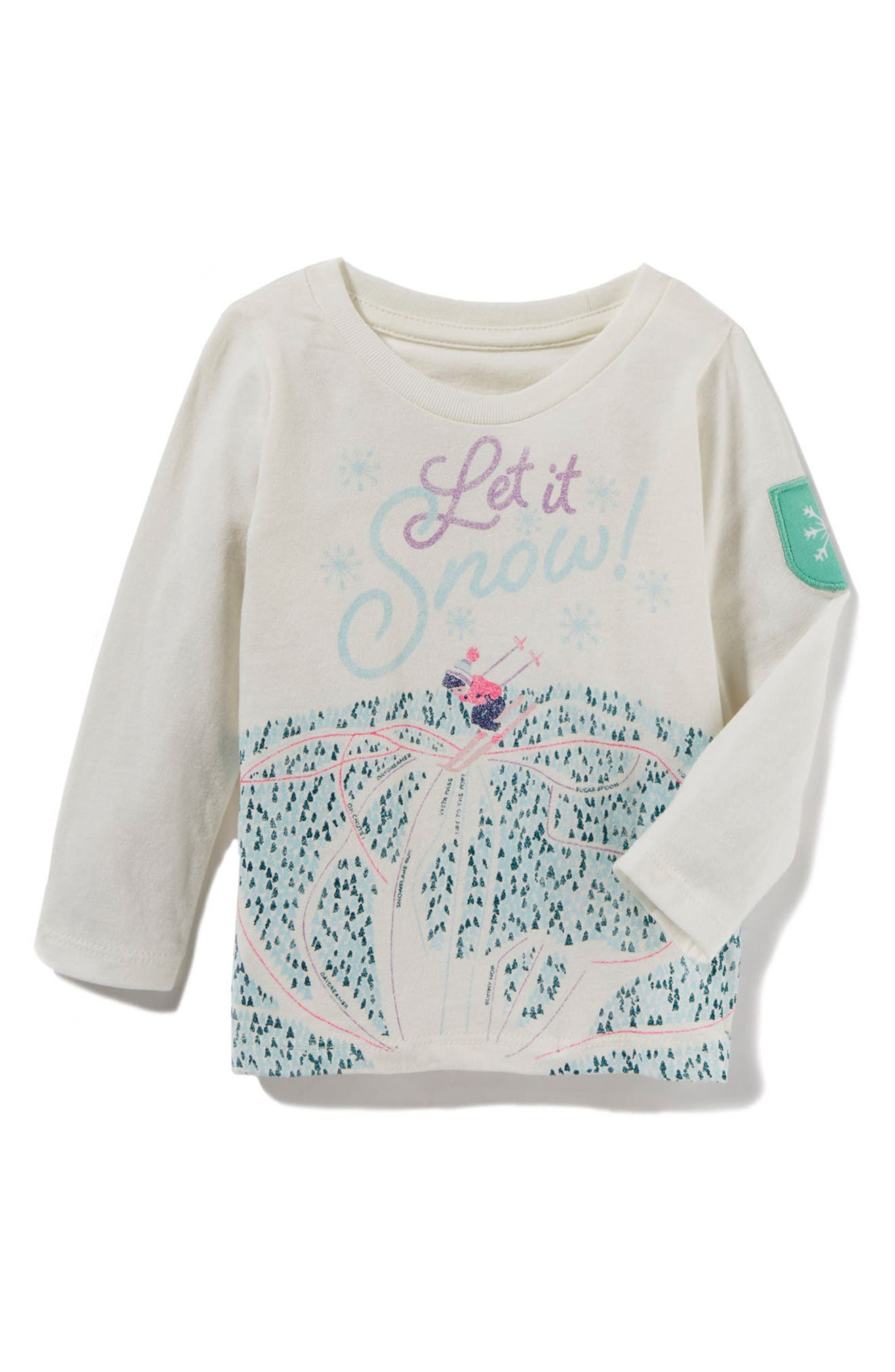 Alternate Image 1 Selected - Peek Let It Snow Graphic Tee (Baby Girls)