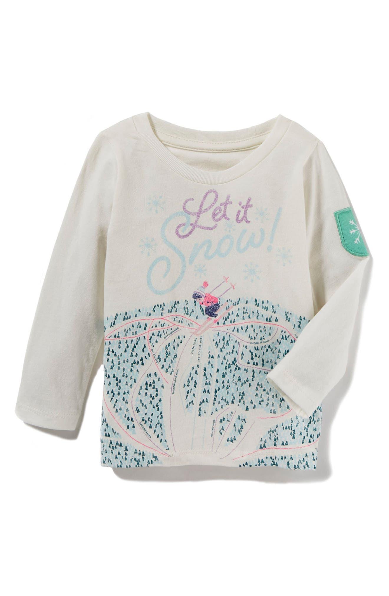 Alternate Image 1 Selected - Peek Let It Snow Graphic Tee (Baby Girls)