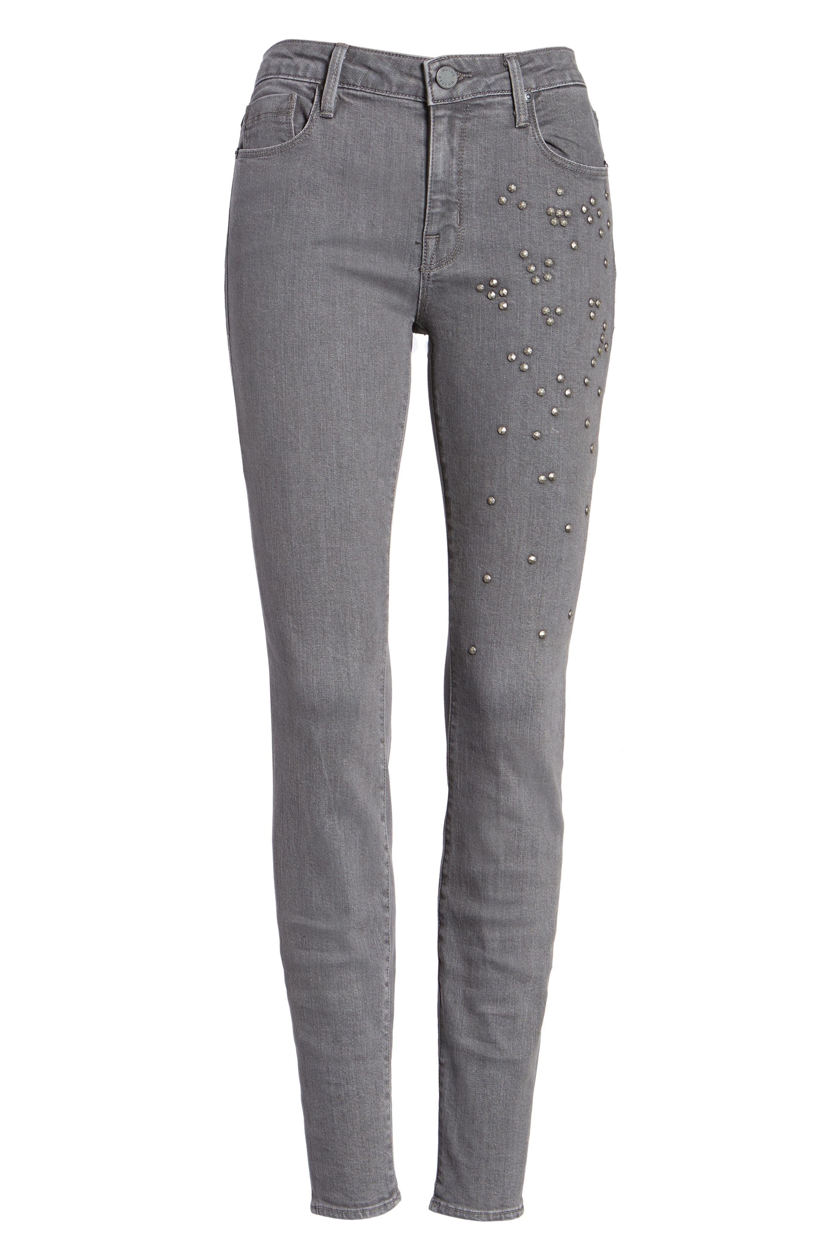 Ava Skinny Jeans,                             Alternate thumbnail 6, color,                             Overcast