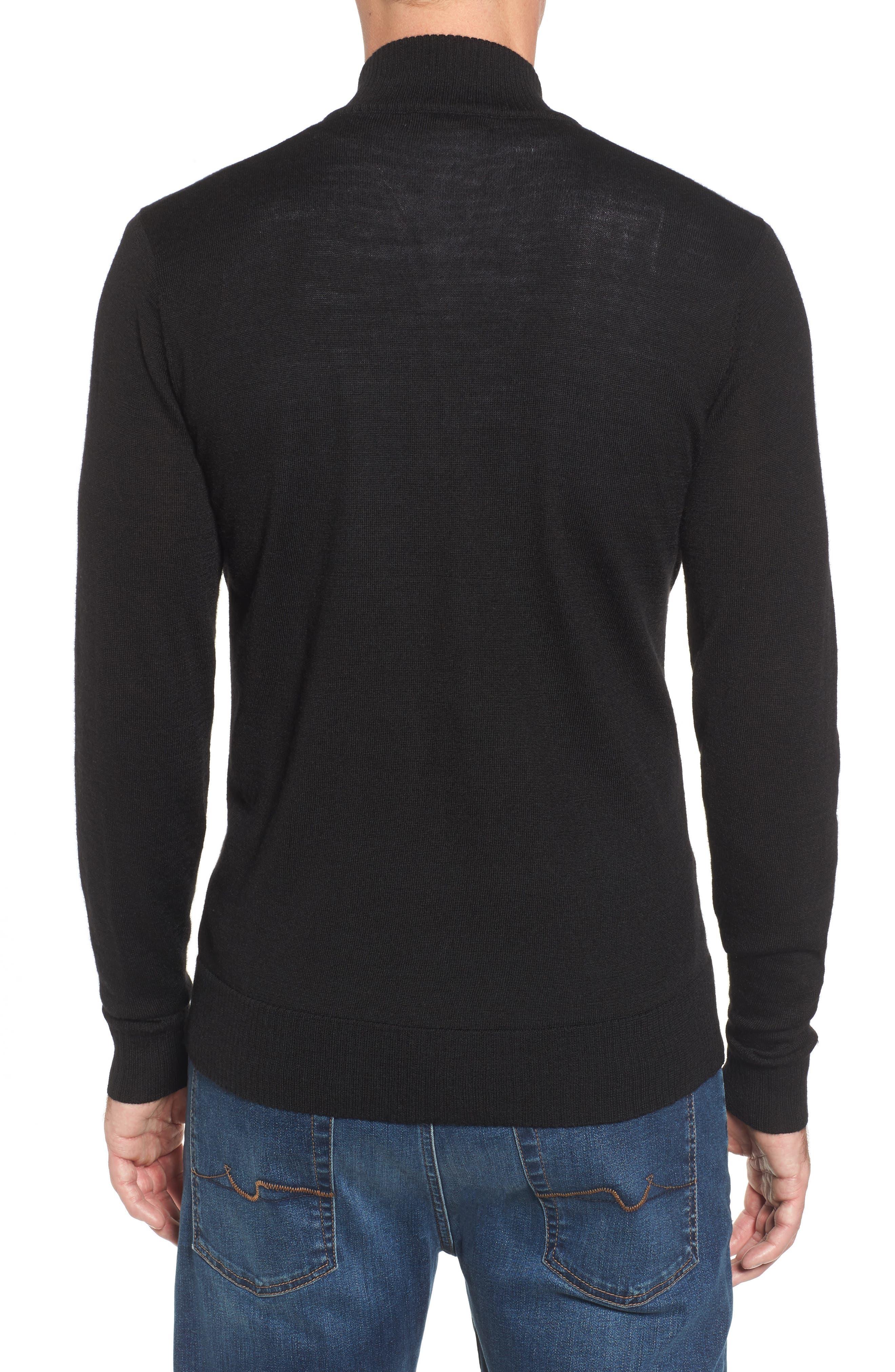 Kiva Ridge Merino Wool Blend Pullover,                             Alternate thumbnail 2, color,                             Black