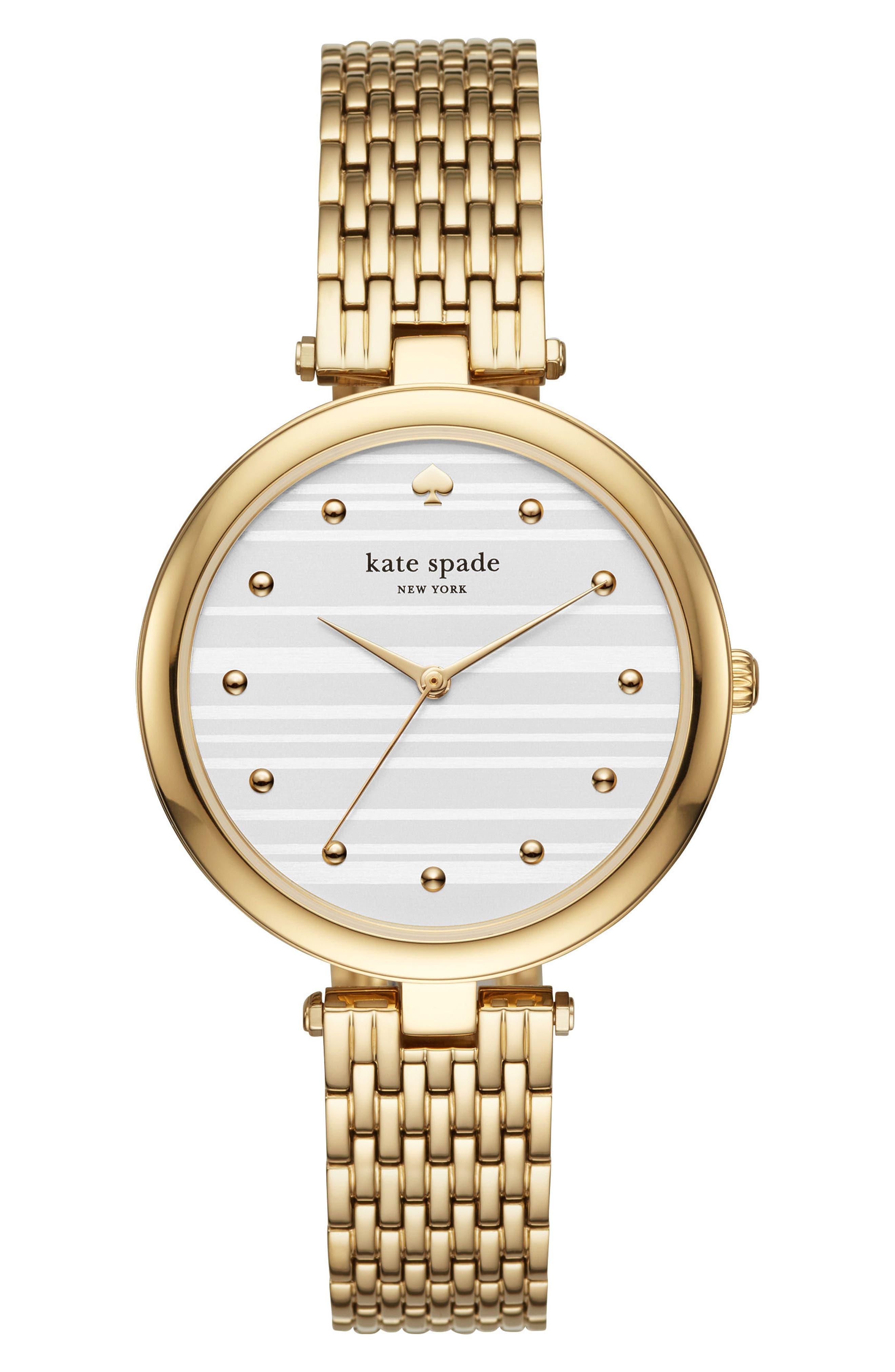 varick bracelet watch, 36mm,                             Main thumbnail 1, color,                             Gold/ Silver/ Gold
