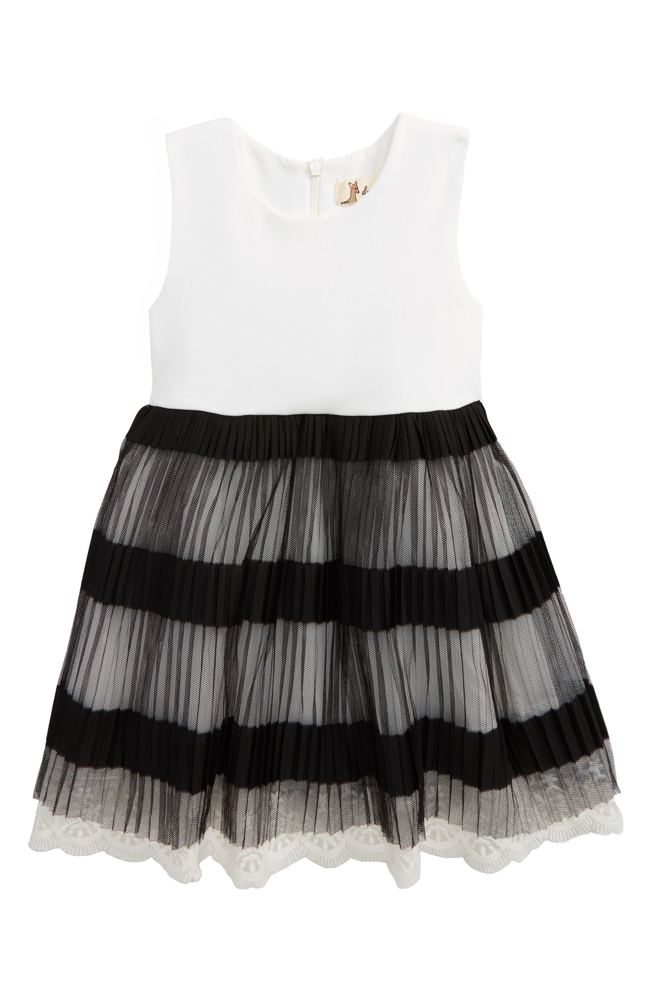 Alternate Image 1 Selected - Doe A Dear Accordion Pleated Dress (Toddler Girls, Little Girls & Big Girls)