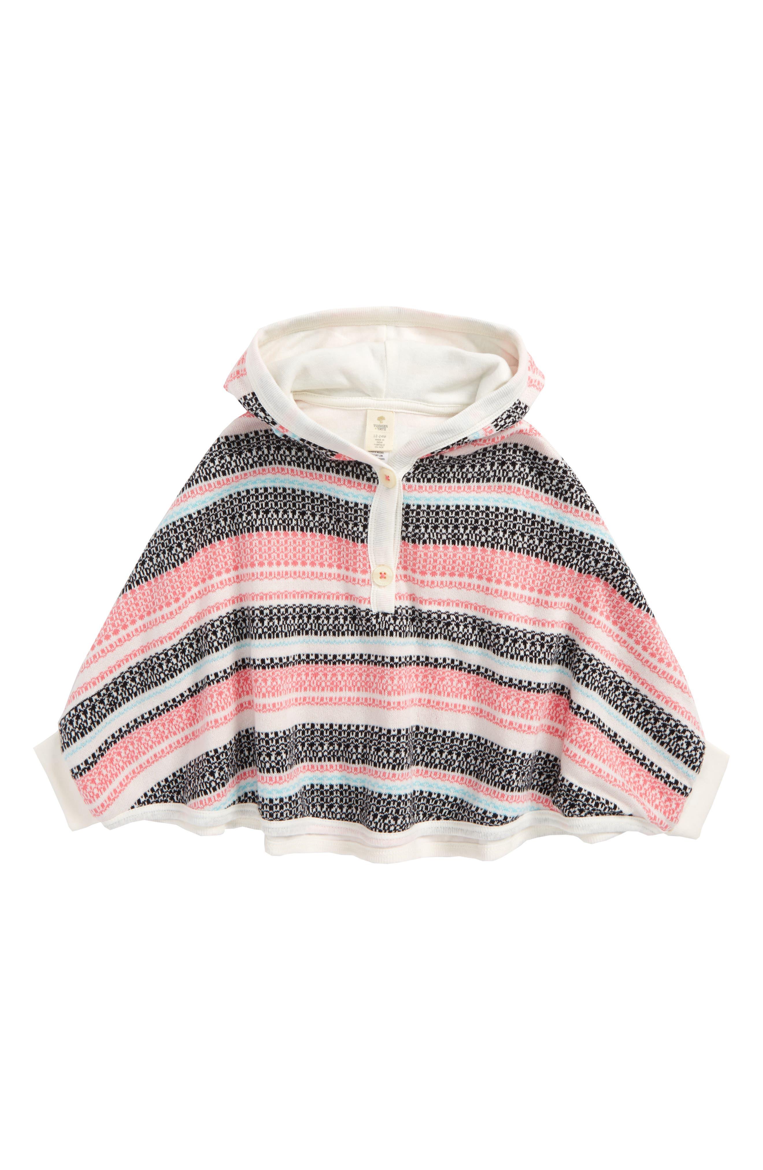 Main Image - Tucker + Tate Fair Isle Sweater Poncho (Baby Girls)