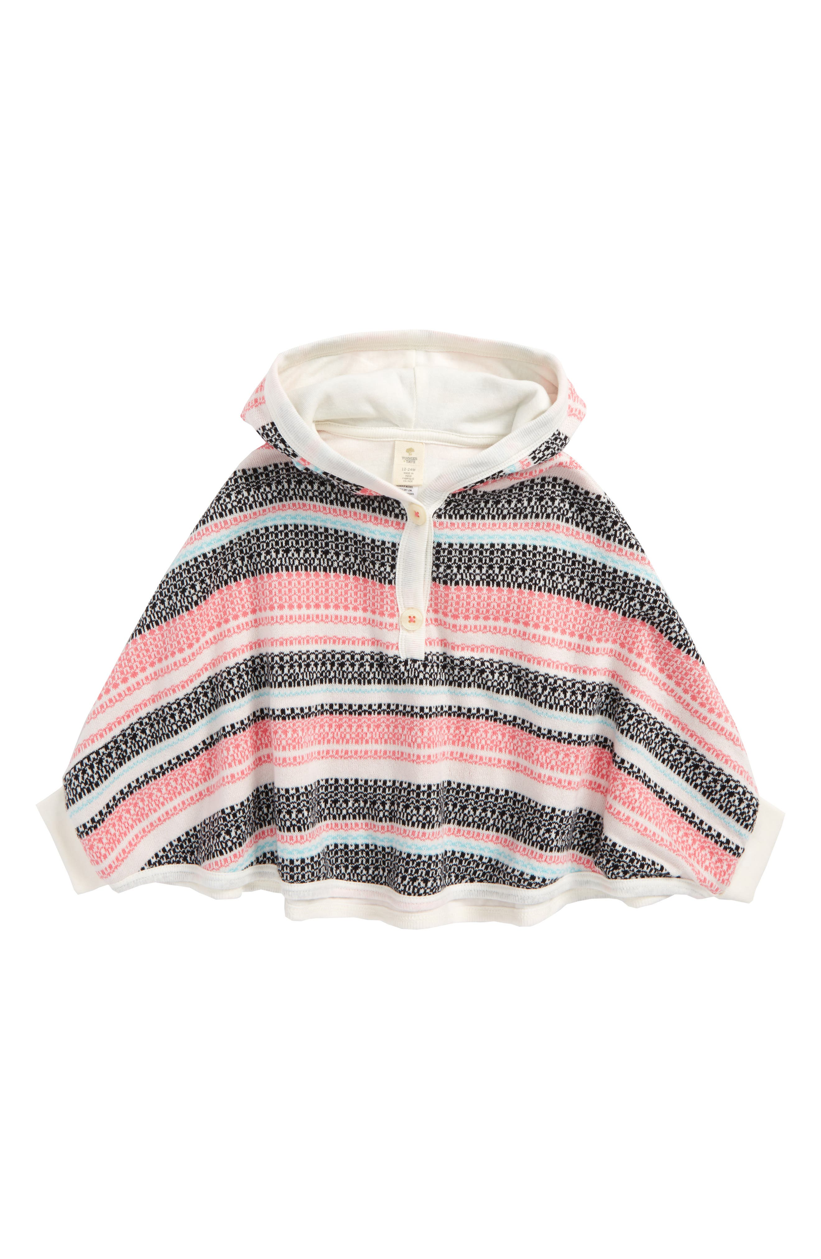 Tucker + Tate Fair Isle Sweater Poncho (Baby Girls)