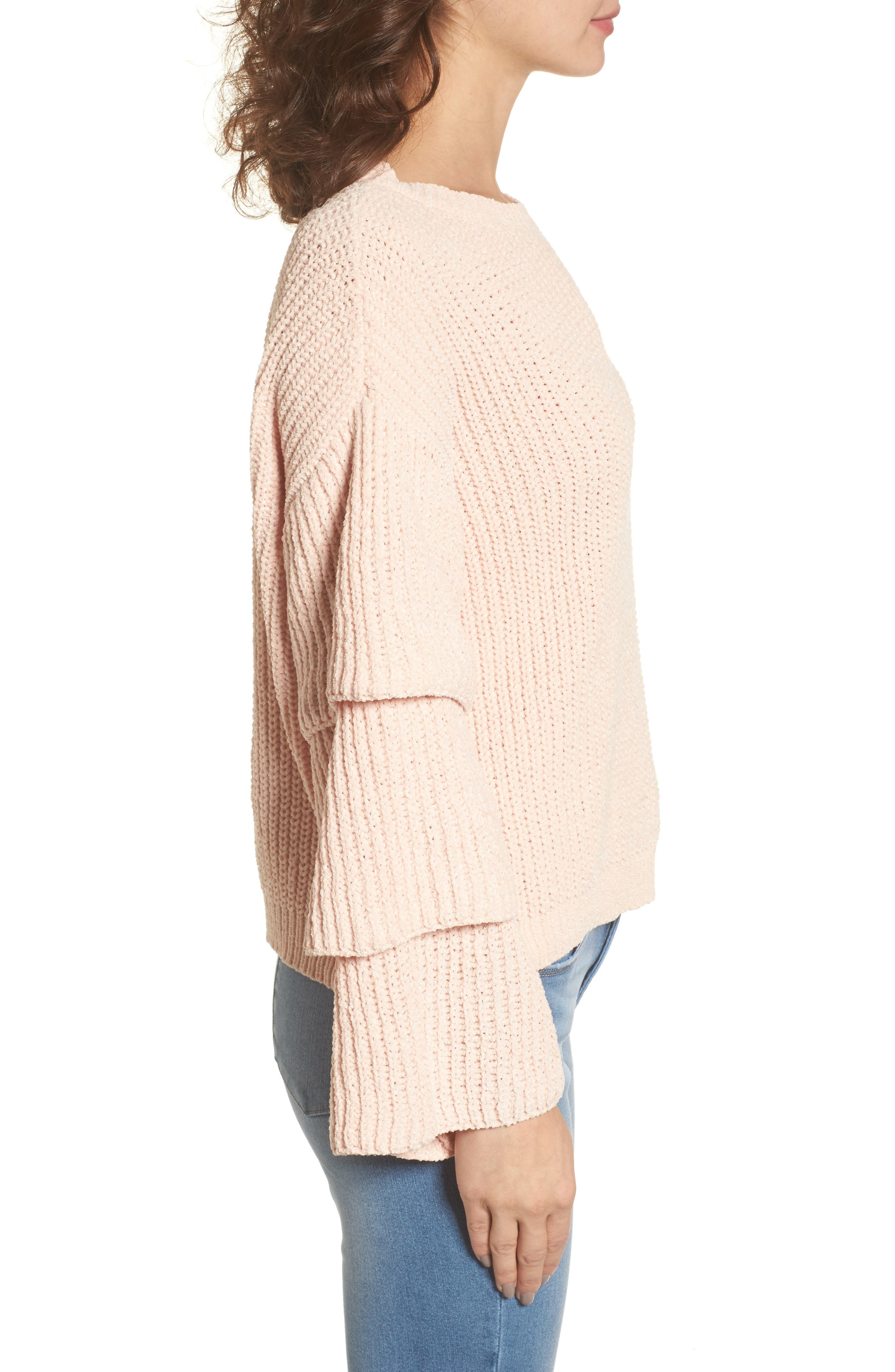 Alternate Image 3  - Woven Heart Triple Ruffle Sweater