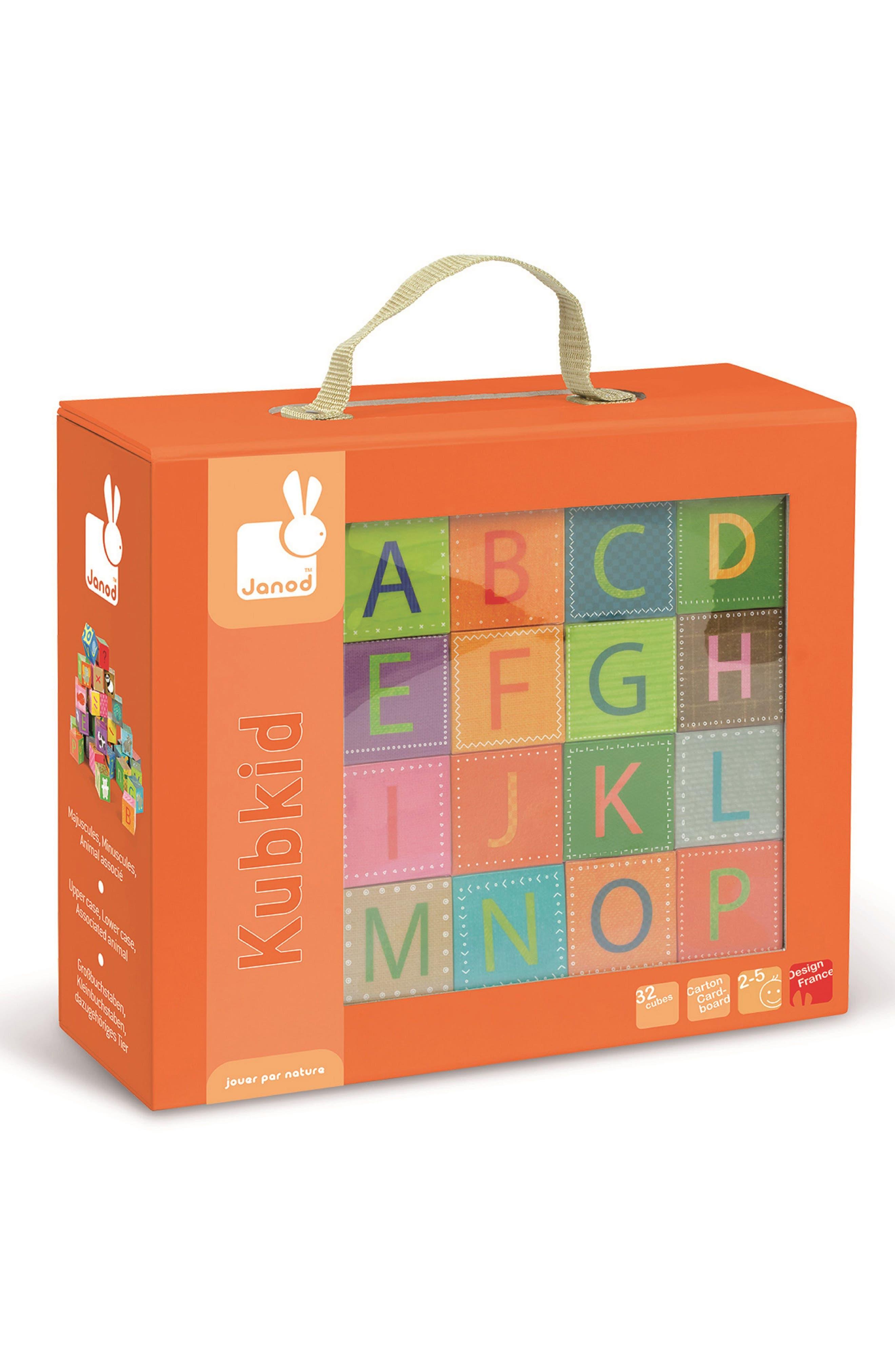 Kubkid 32-Piece Block Set,                             Main thumbnail 1, color,                             Orange Multi