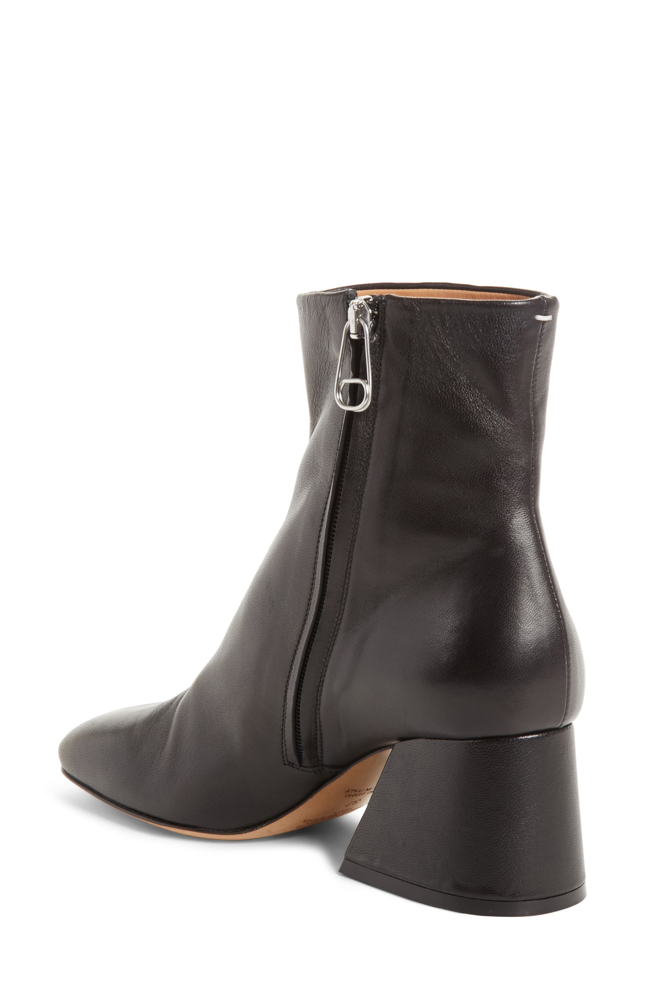 Flare Heel Ankle Boot,                             Alternate thumbnail 2, color,                             Black