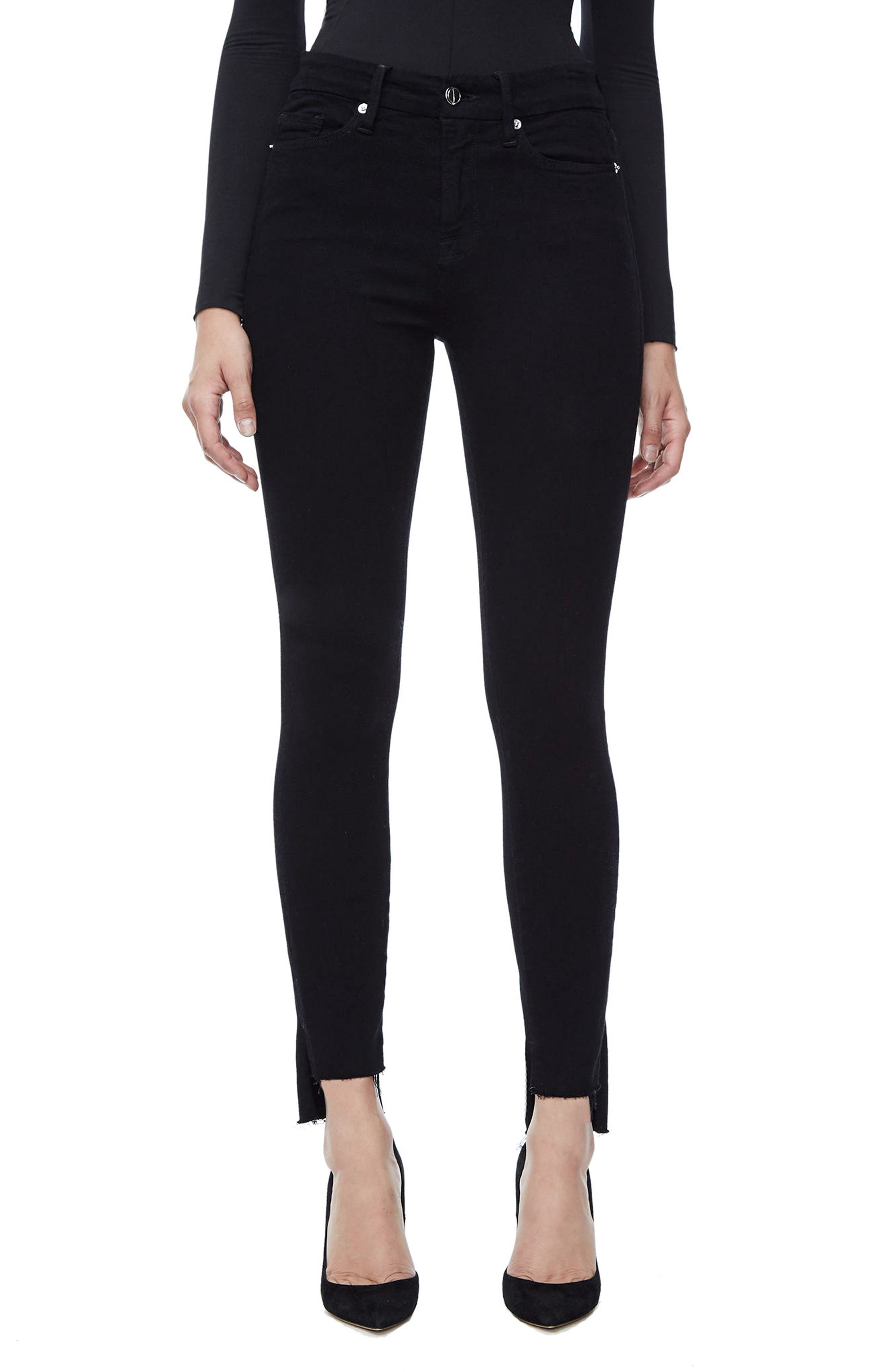 Alternate Image 1 Selected - Good American Good Legs High Waist Skinny Jeans (Black 001) (Extended Sizes)