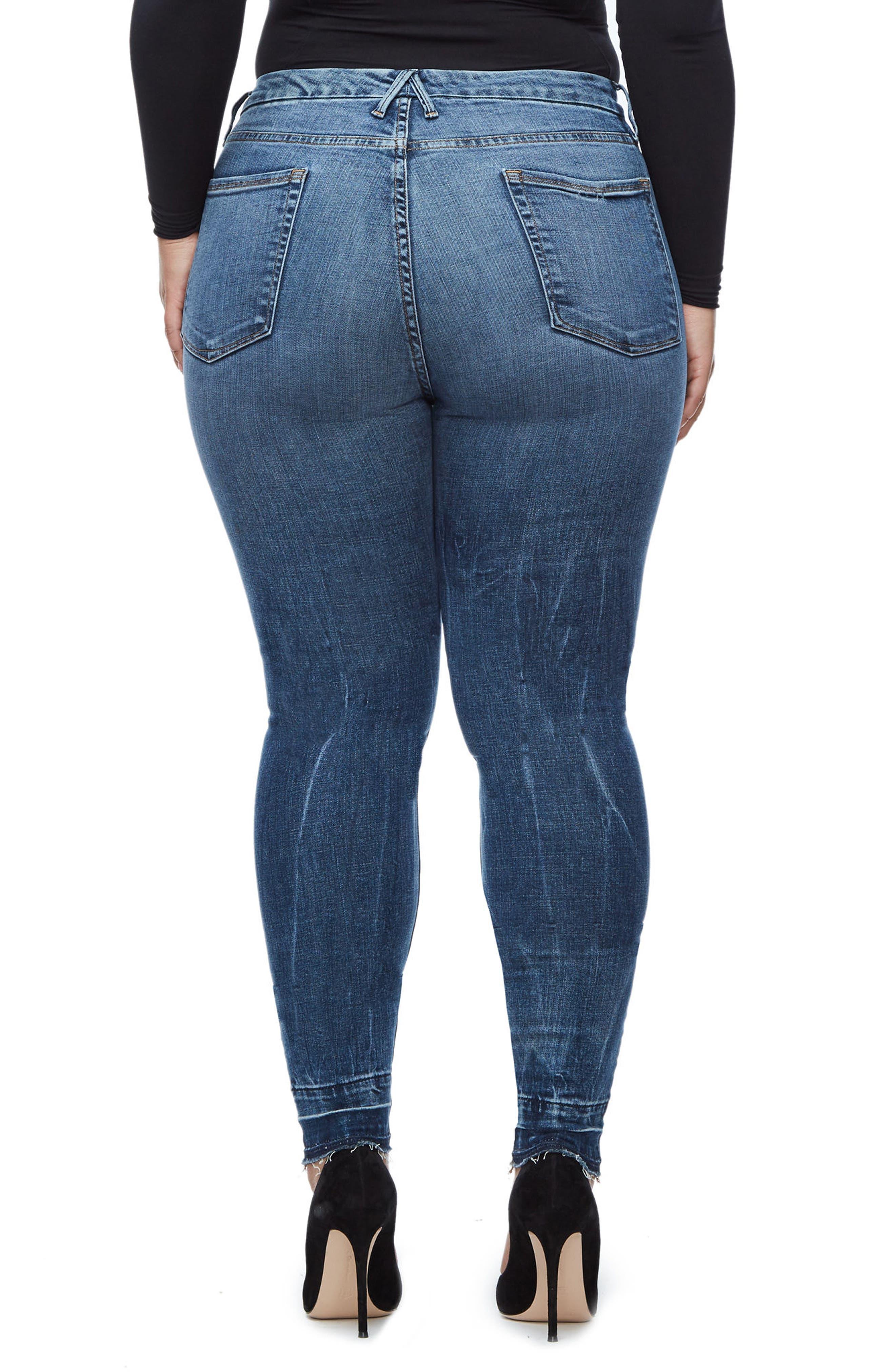 Good Legs High Waist Skinny Jeans,                             Alternate thumbnail 5, color,                             Blue 097