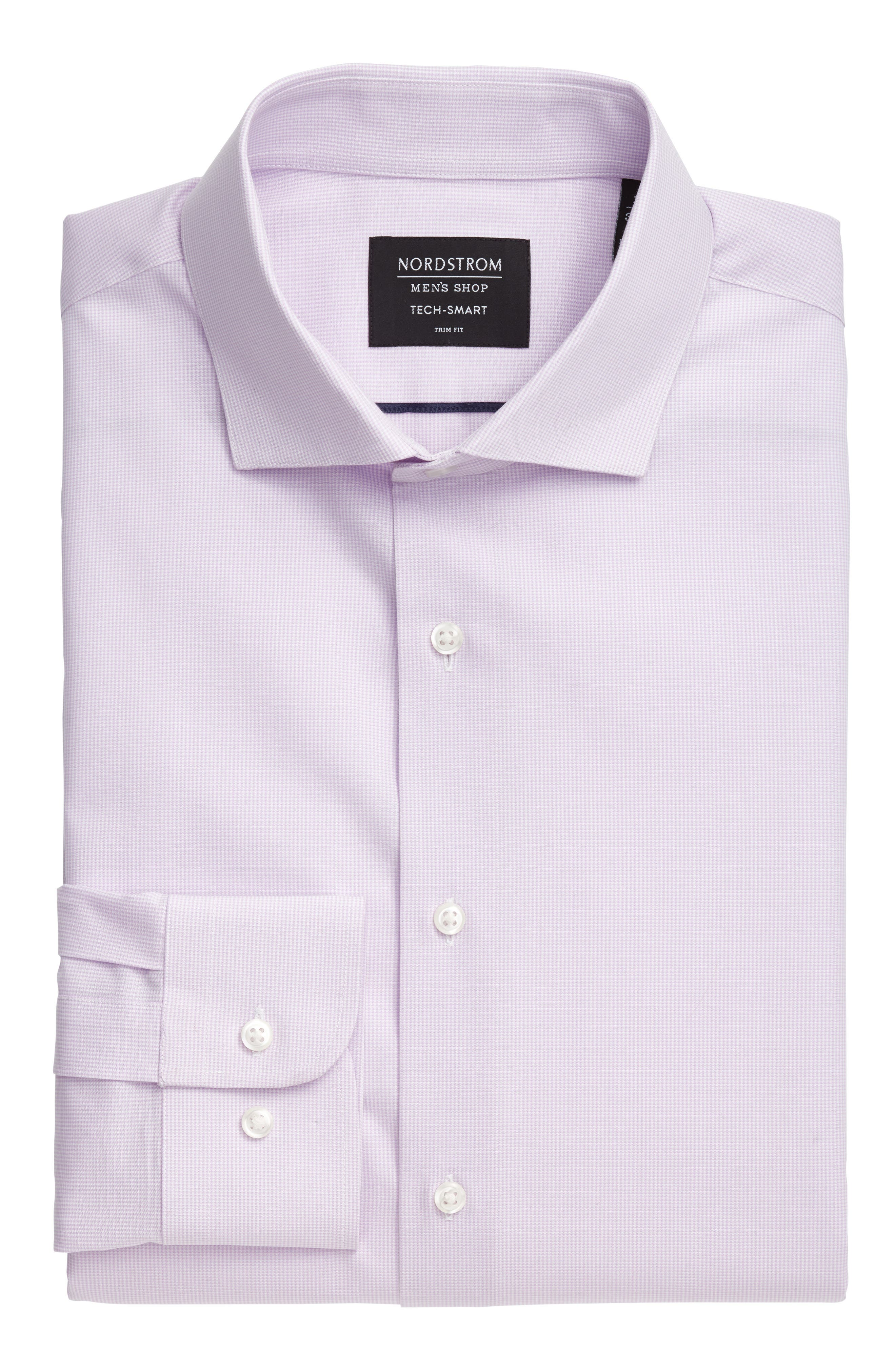 Tech-Smart Traditional Fit Stretch Microdot Dress Shirt,                             Alternate thumbnail 6, color,                             Purple Bloom
