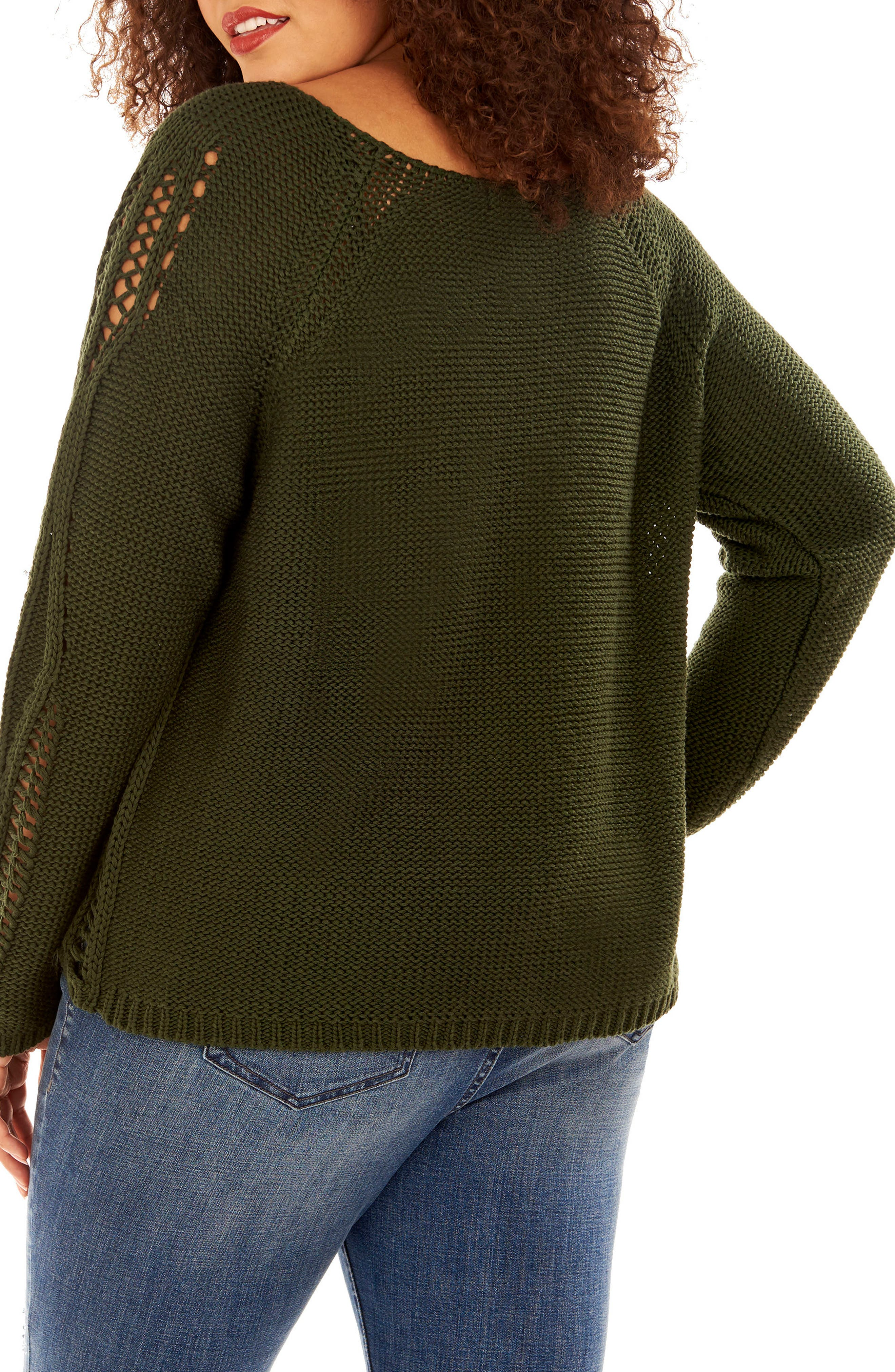 Alternate Image 2  - Rebel Wilson x Angels Open Stitch Sweater (Plus Size)