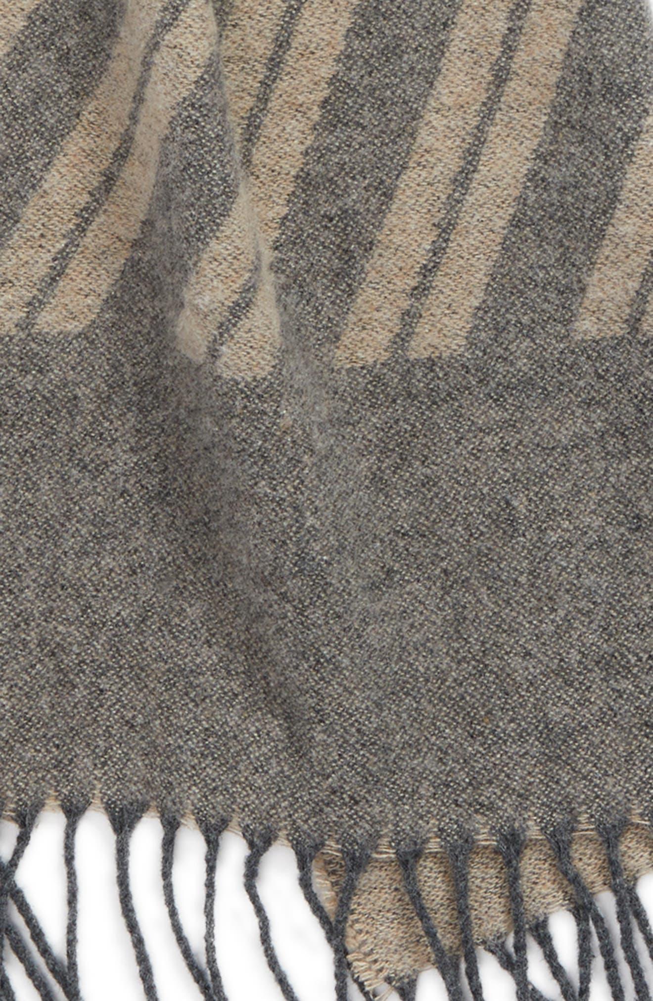 Colorblock Stripe Cotton Scarf,                             Alternate thumbnail 4, color,                             Maple Oat