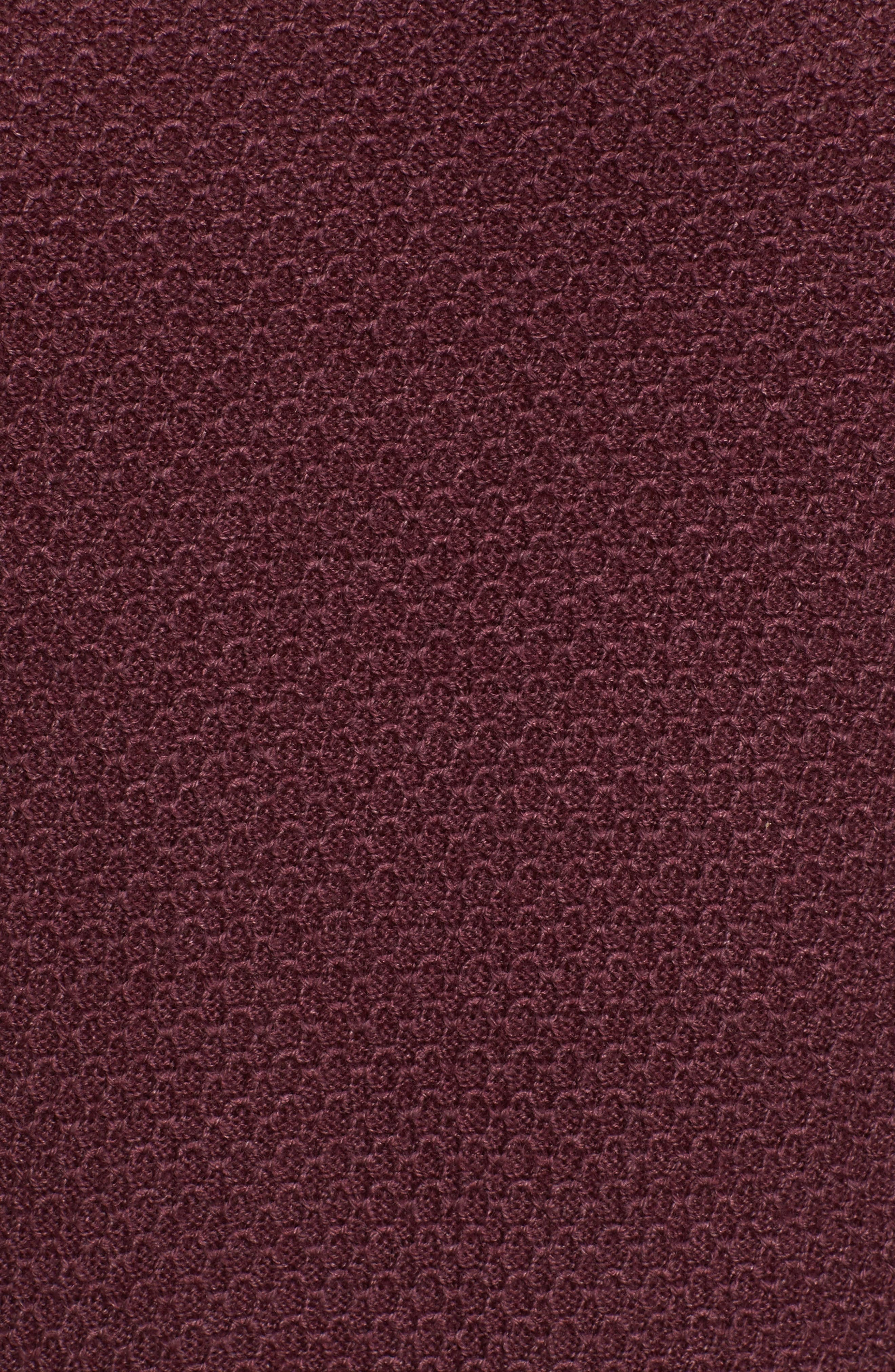Honeycomb Merino Crewneck Sweater,                             Alternate thumbnail 5, color,                             Burgundy