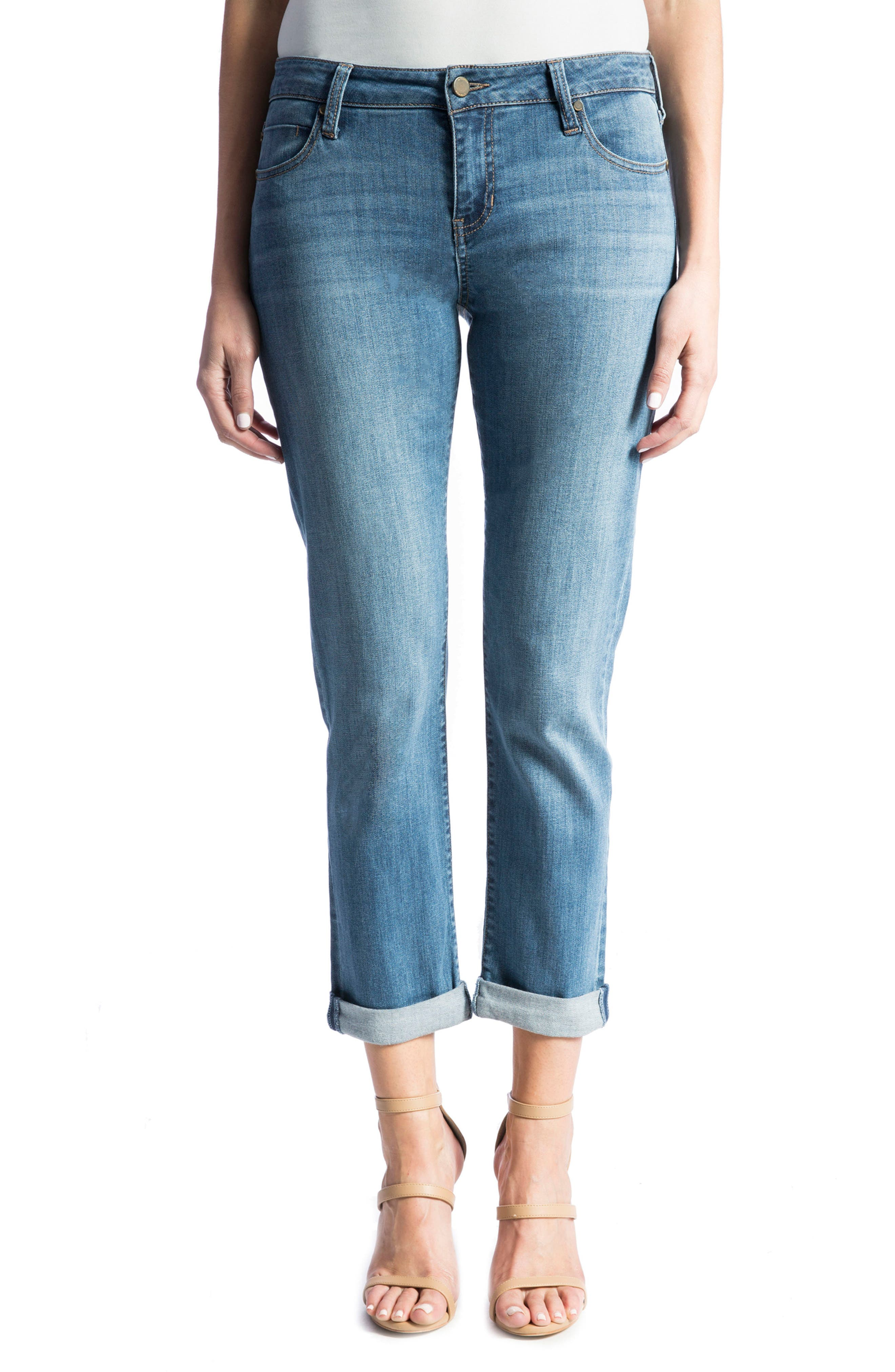 Main Image - Liverpool Jeans Company 'Peyton' Slim Boyfriend Jeans (Vintage Me)