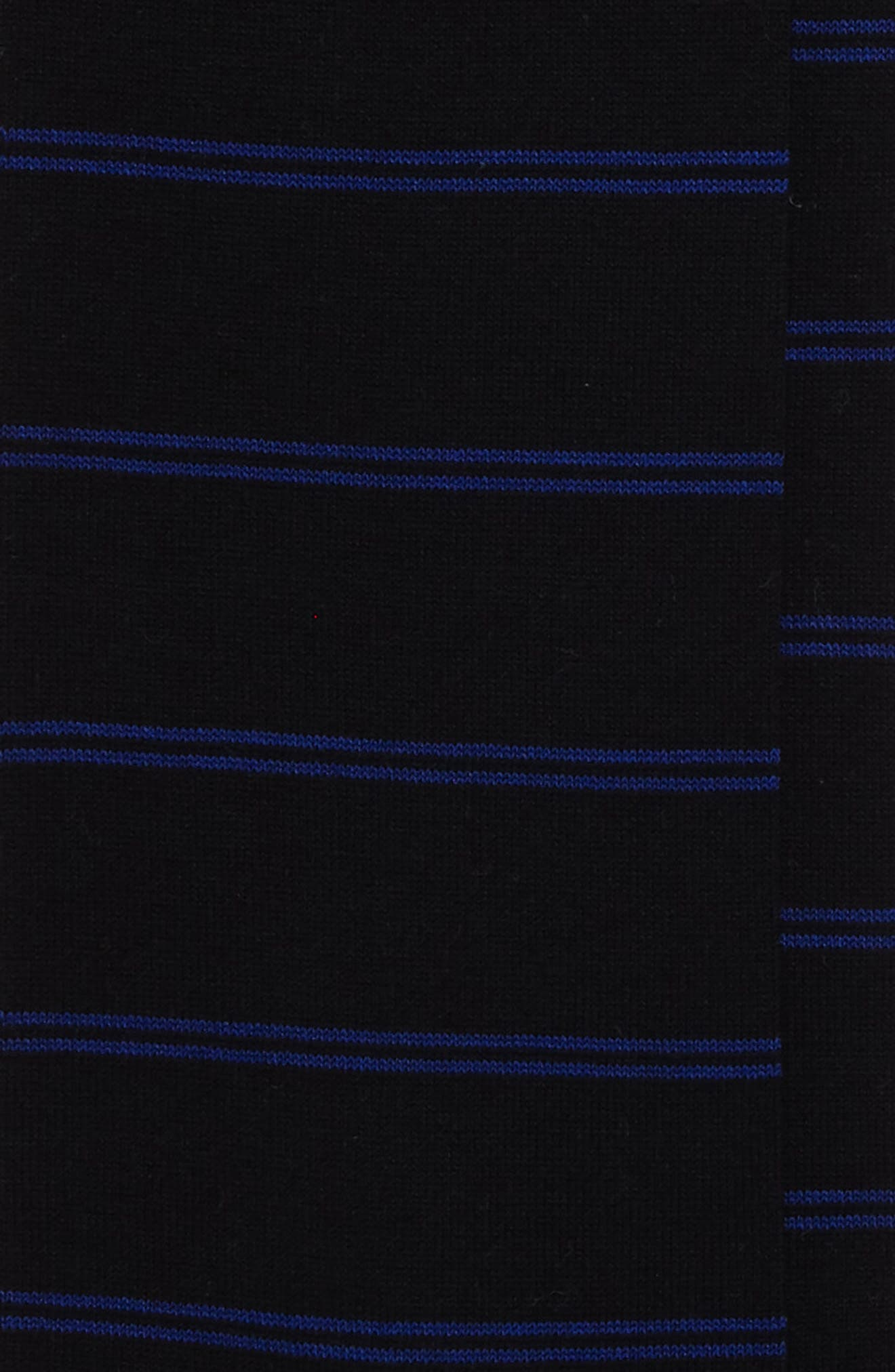 Parallel Lines Over the Calf Socks,                             Alternate thumbnail 2, color,                             Black/ Blue