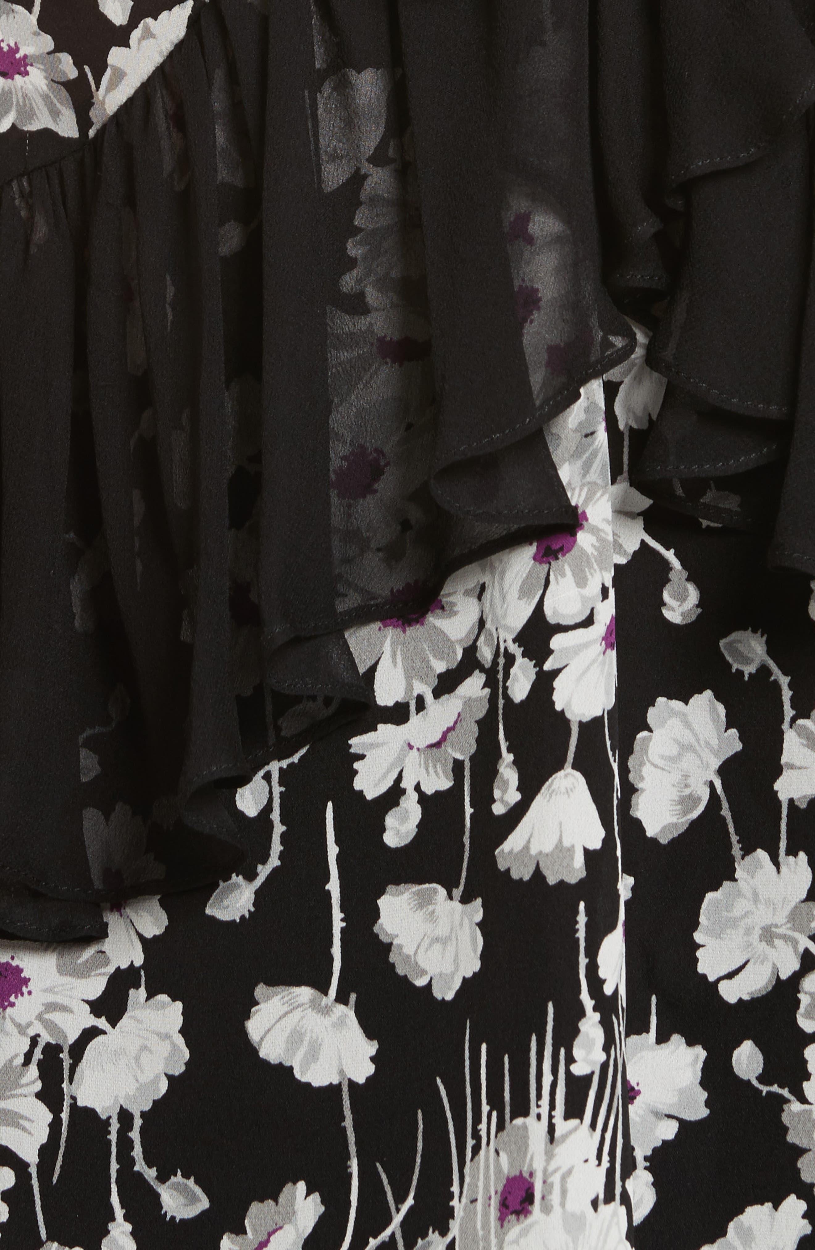 Alternate Image 5  - Cinq à Sept Simone Ruffled Sleeveless Silk Top