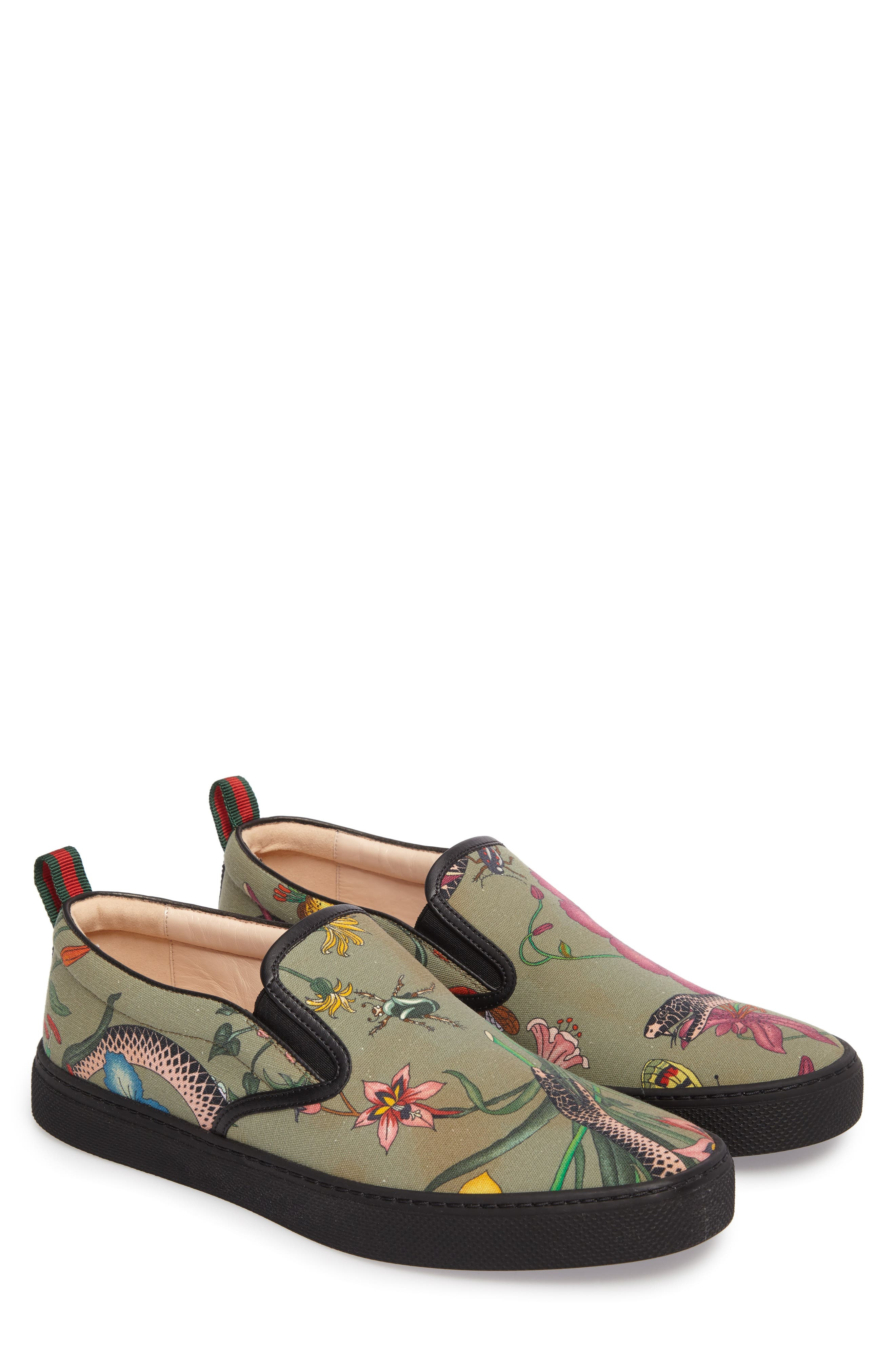 Flora Snake Slip-On Sneaker,                             Alternate thumbnail 2, color,                             Green