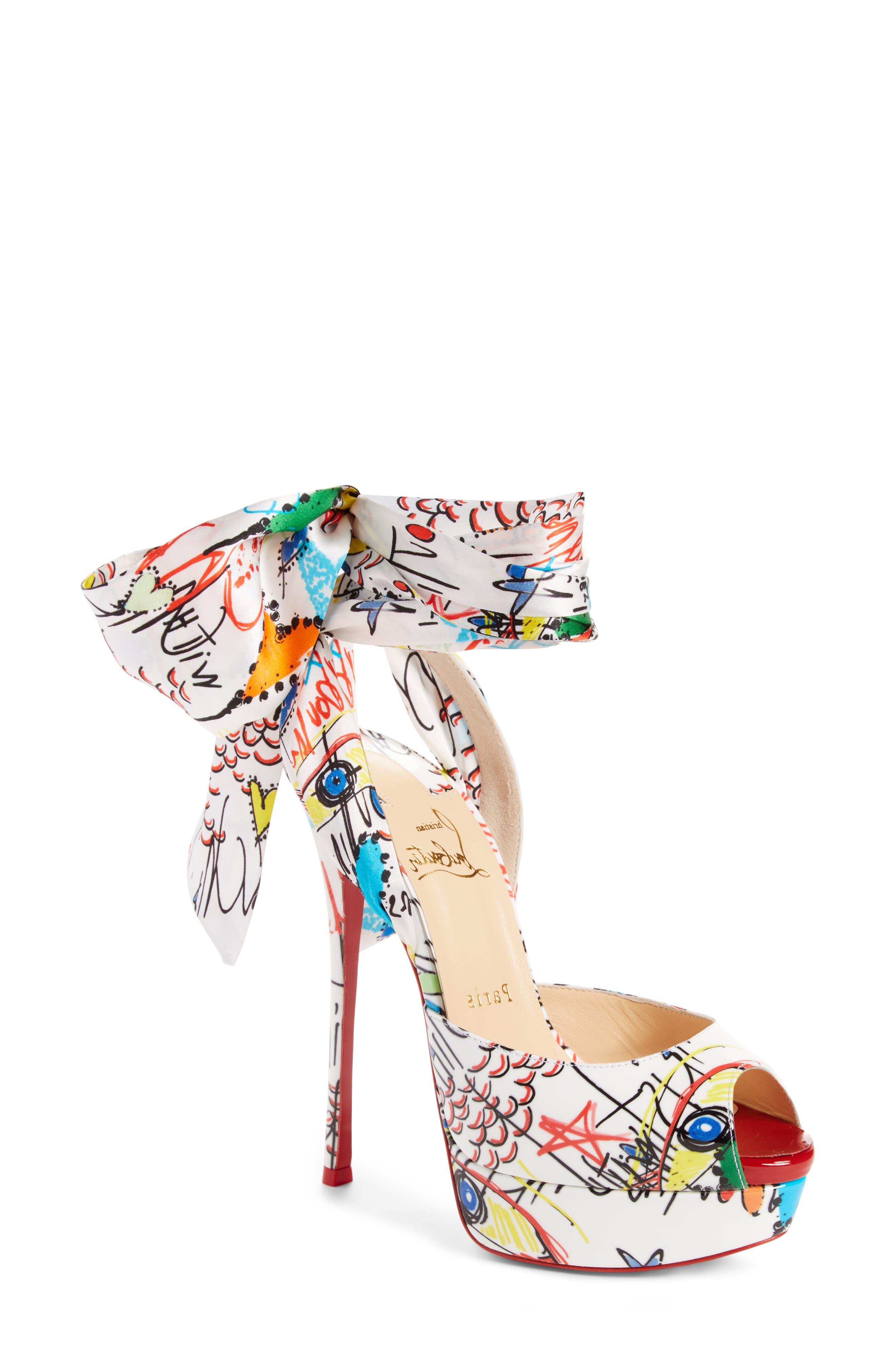 Loubitag Sandal,                             Main thumbnail 1, color,                             White Multi