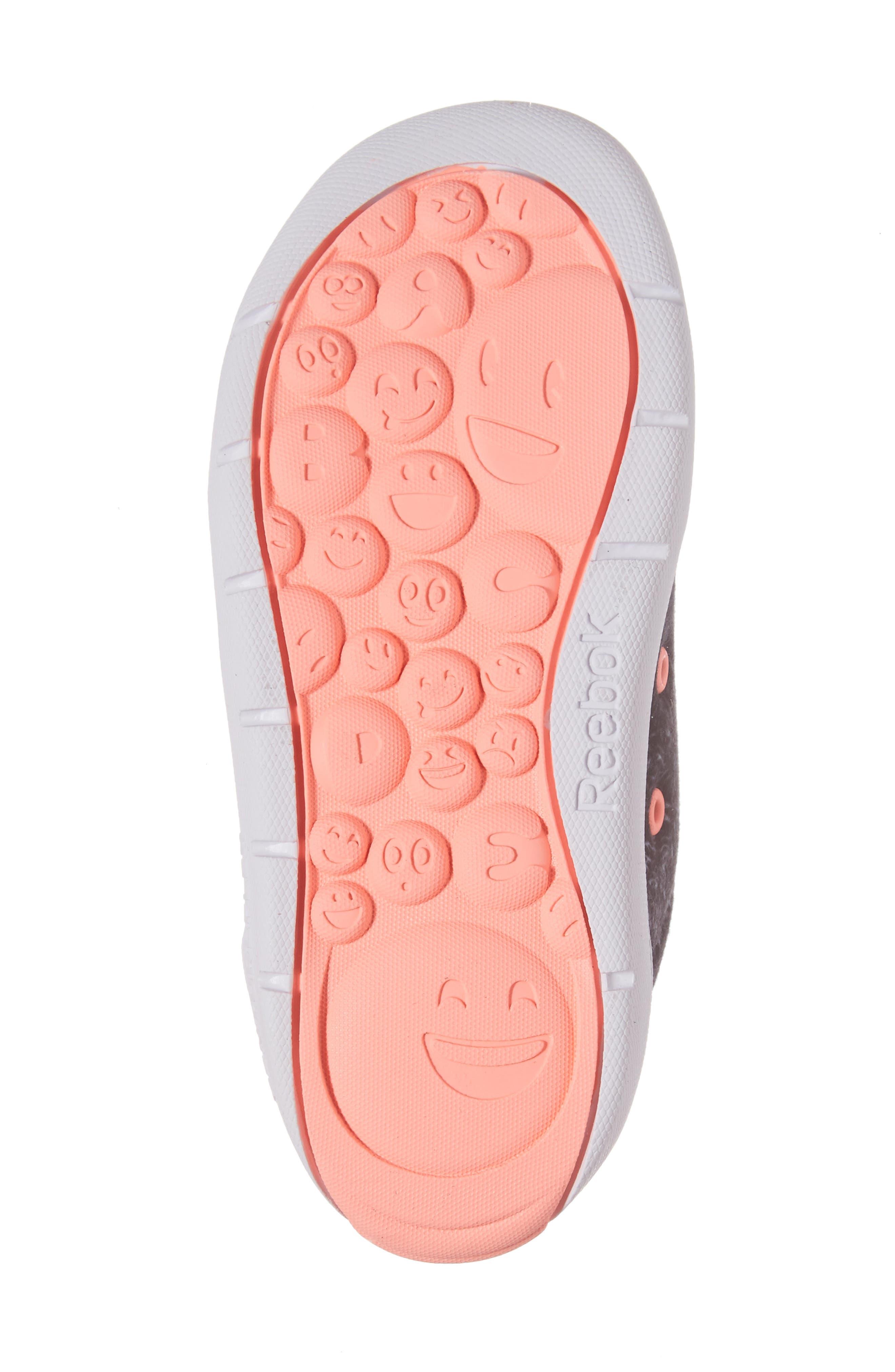 Ventureflex Critter Feet Sneaker,                             Alternate thumbnail 6, color,                             Artic Black/ White/ Sour Melon
