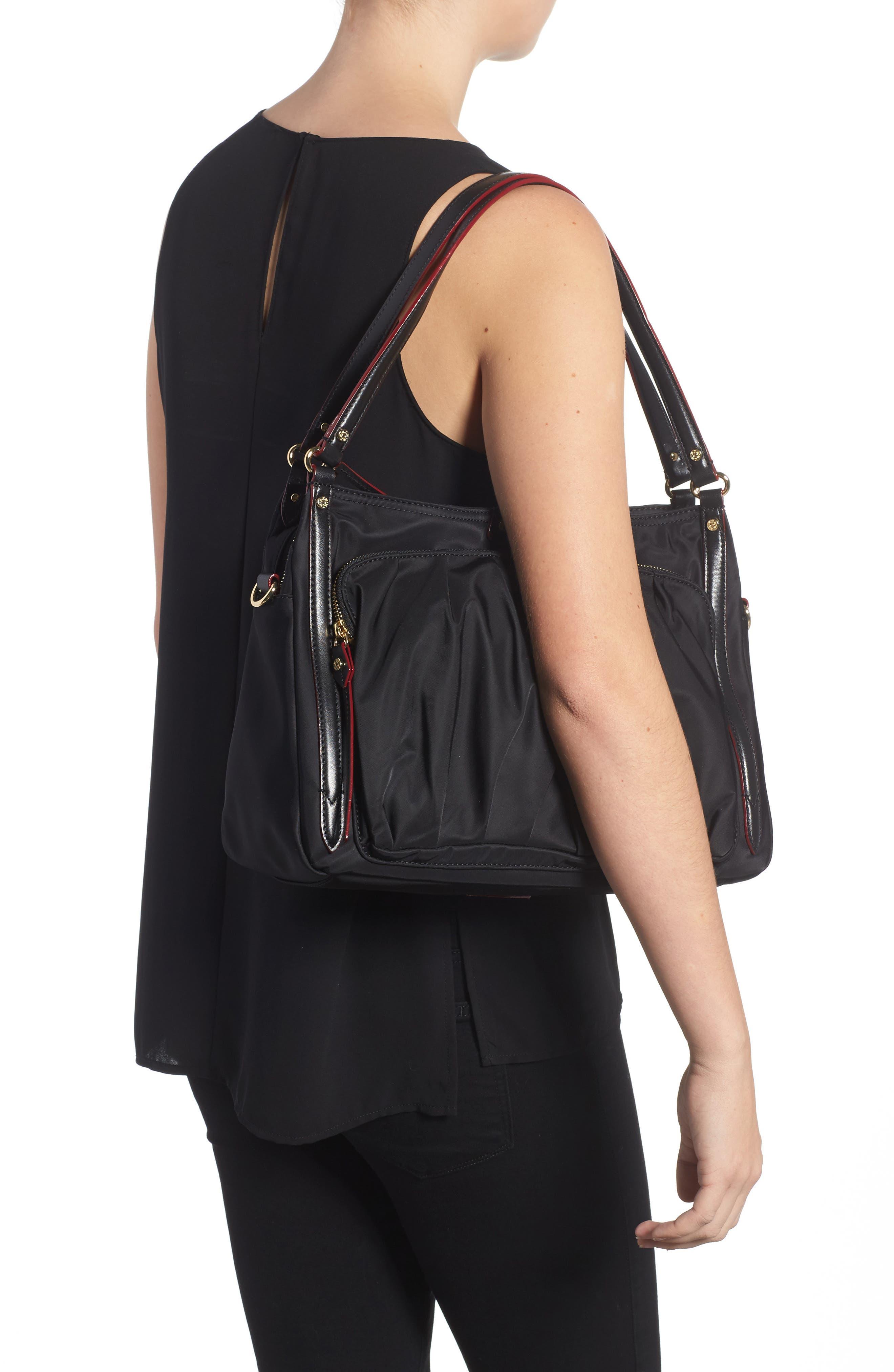Toni Bedford Nylon Shoulder Bag,                             Alternate thumbnail 2, color,                             Black