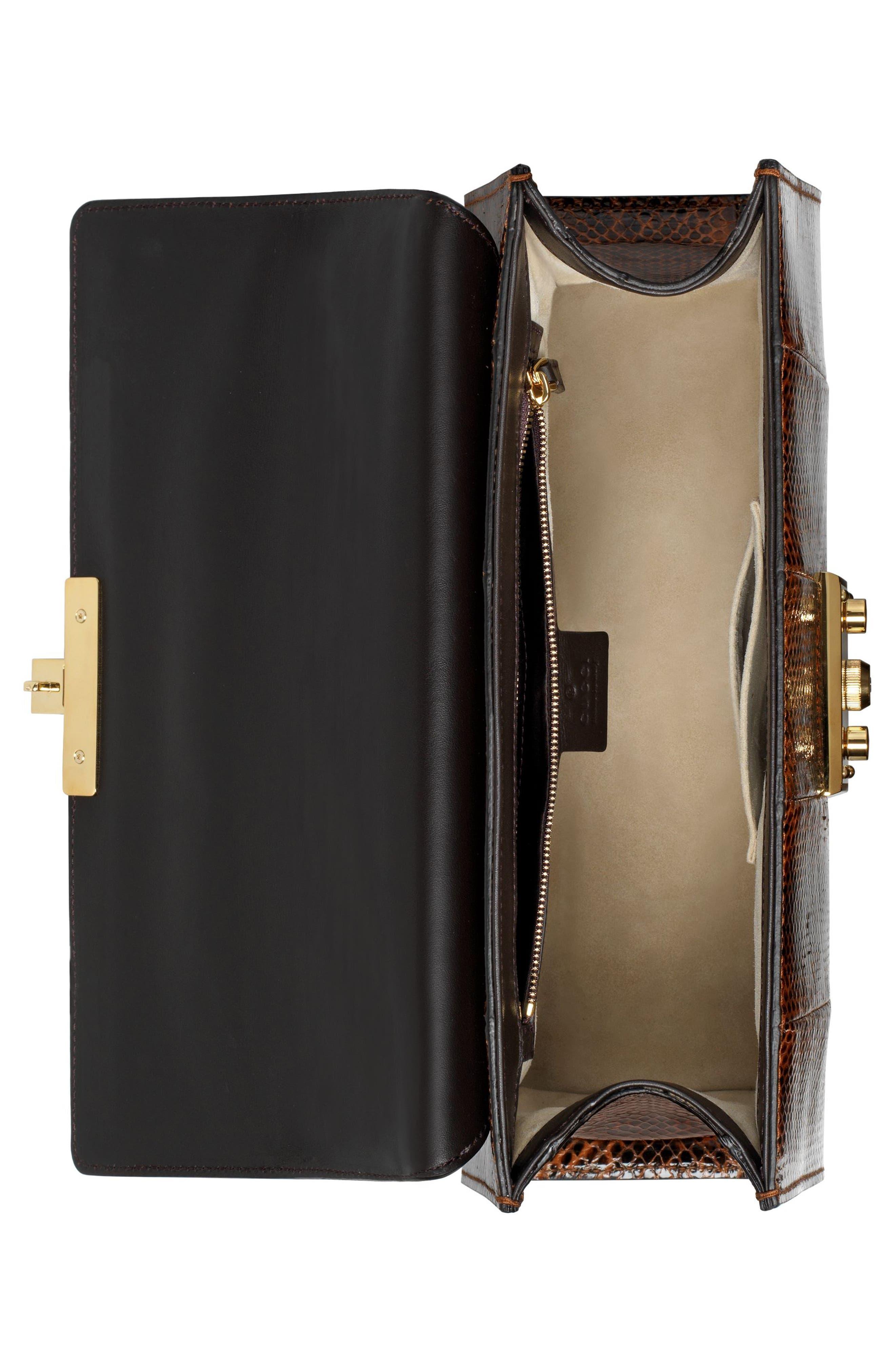 Alternate Image 3  - Gucci Medium Padlock - Elaphe Genuine Snakeskin Shoulder Bag