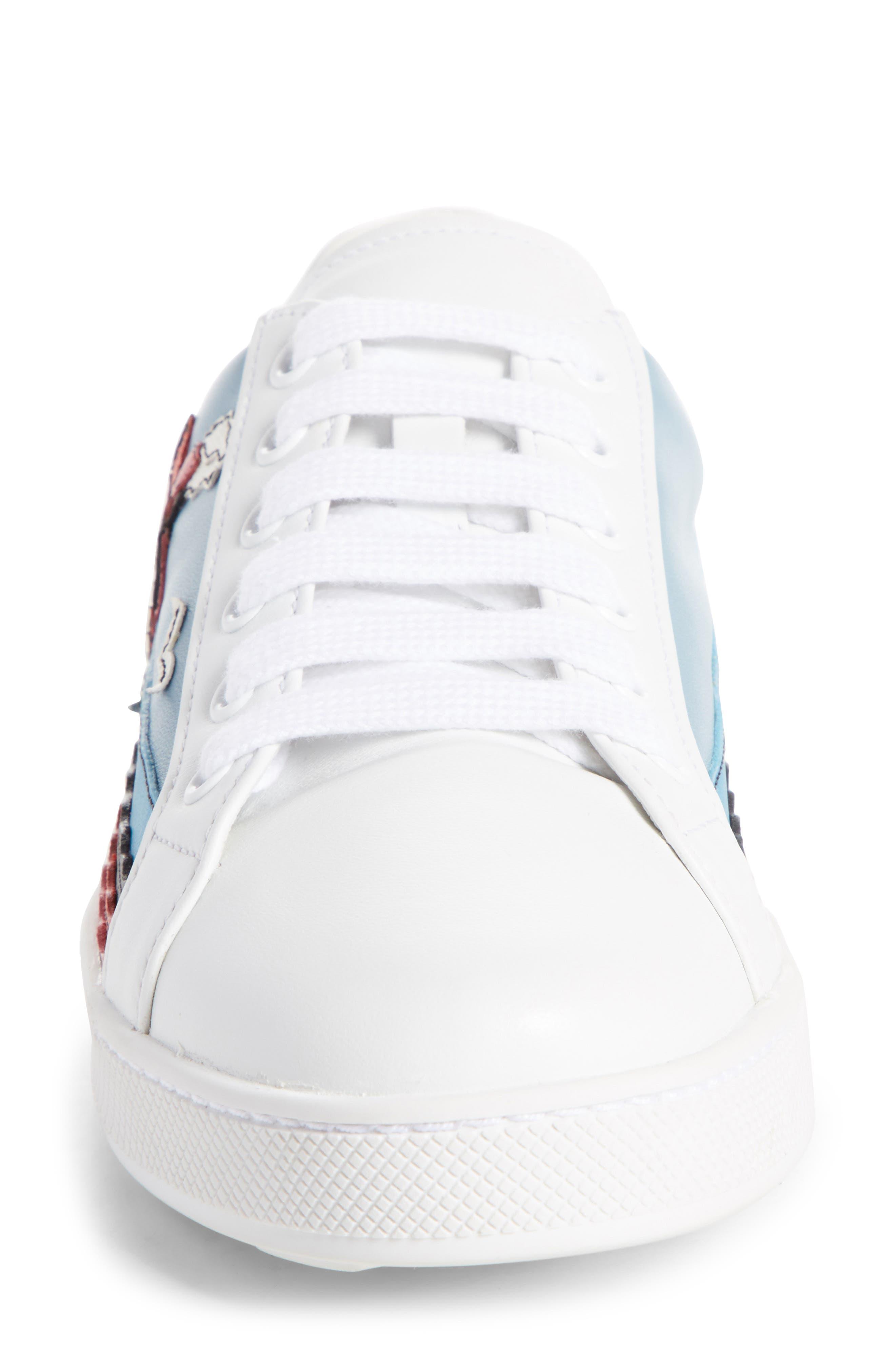 Boat Platform Lace-Up Sneaker,                             Alternate thumbnail 3, color,                             White