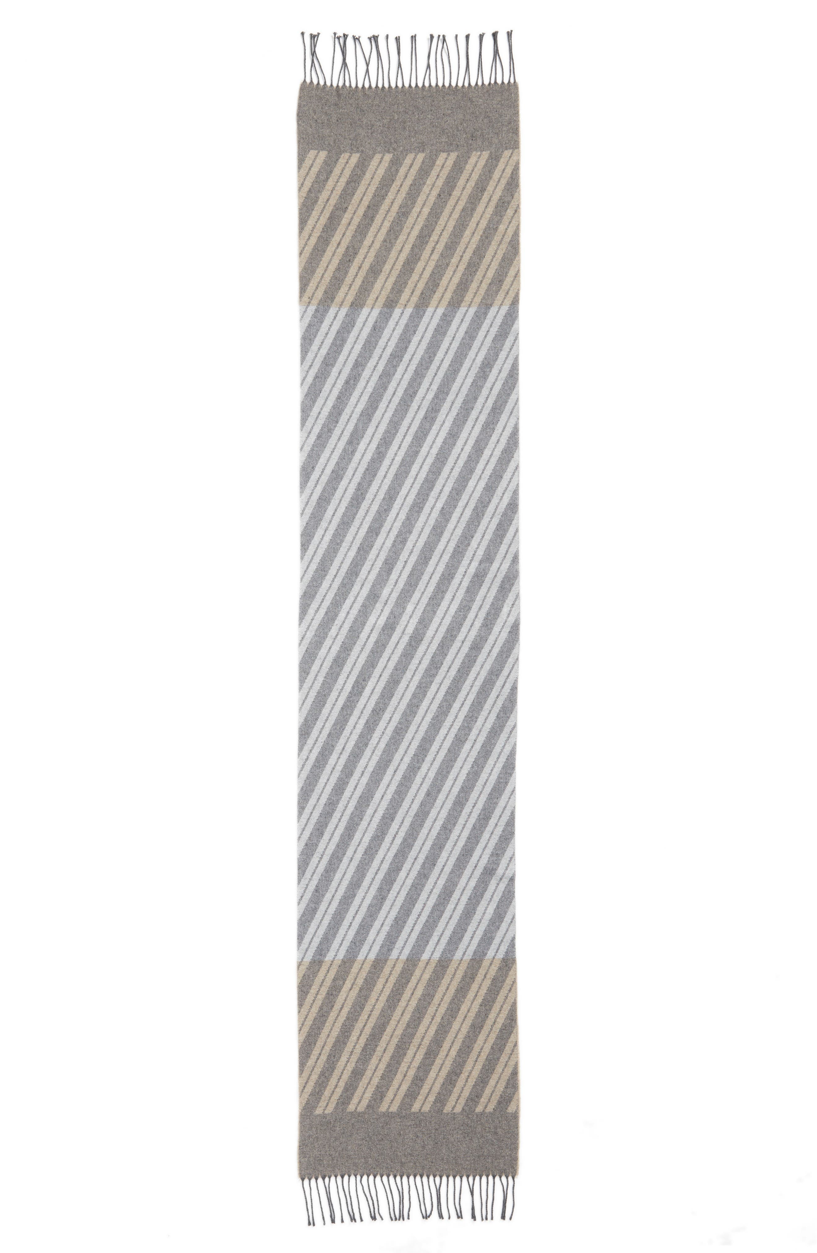 Alternate Image 3  - Eileen Fisher Colorblock Stripe Cotton Scarf