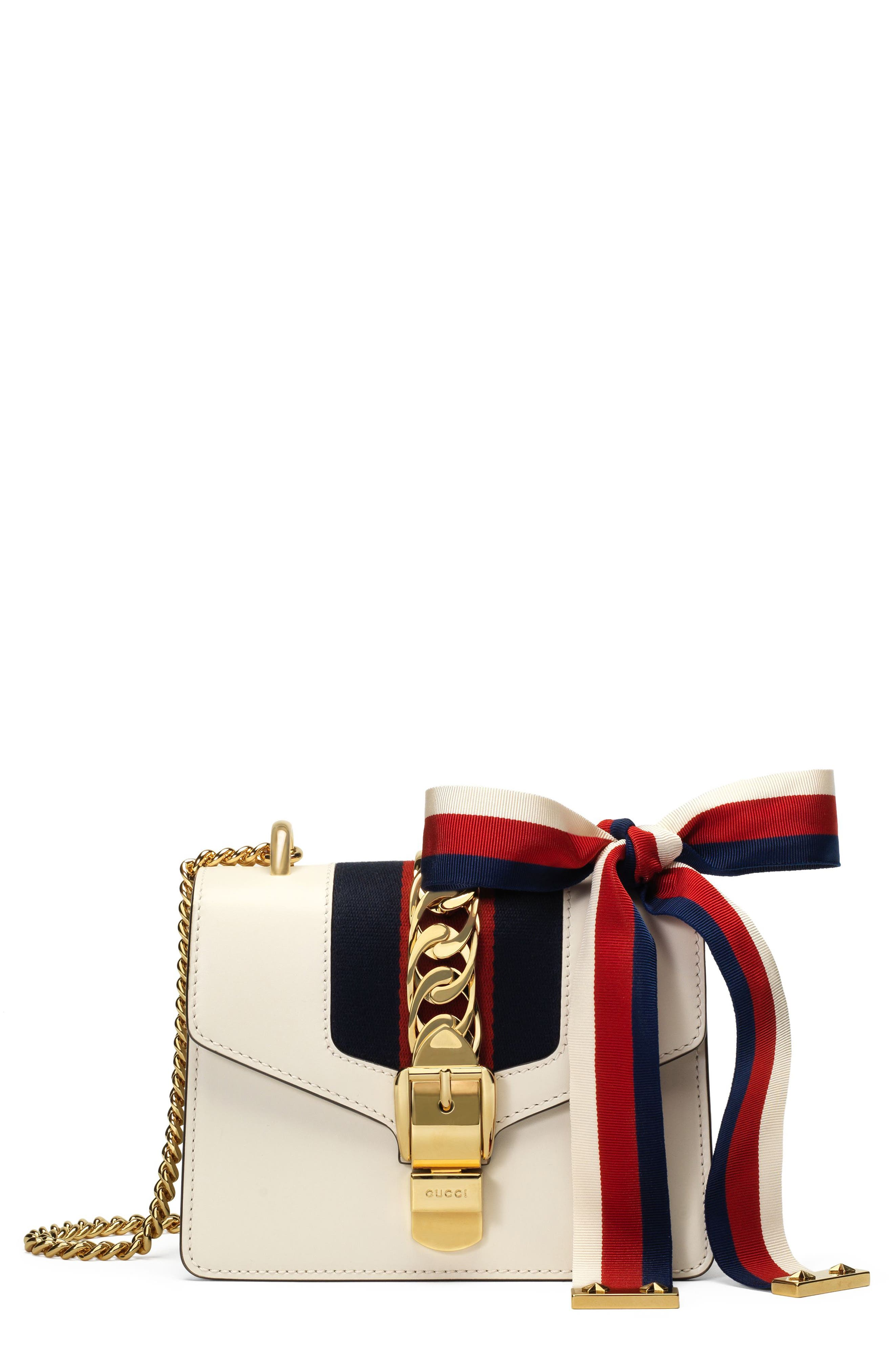 gucci bags at nordstrom. gucci mini sylvie leather shoulder bag bags at nordstrom
