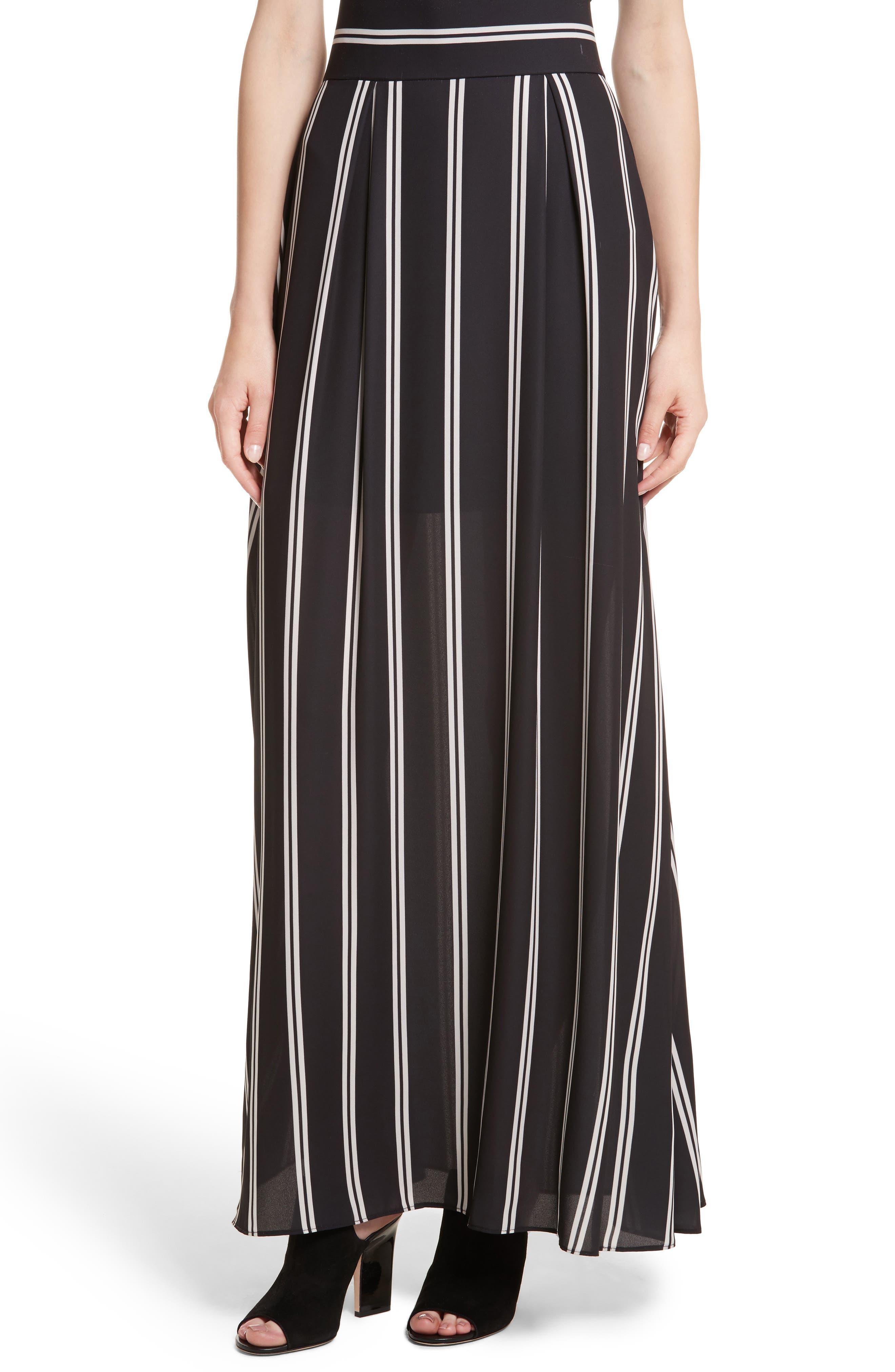 Gabel Clean Pleat Maxi Skirt,                         Main,                         color, Mod Pinstripe