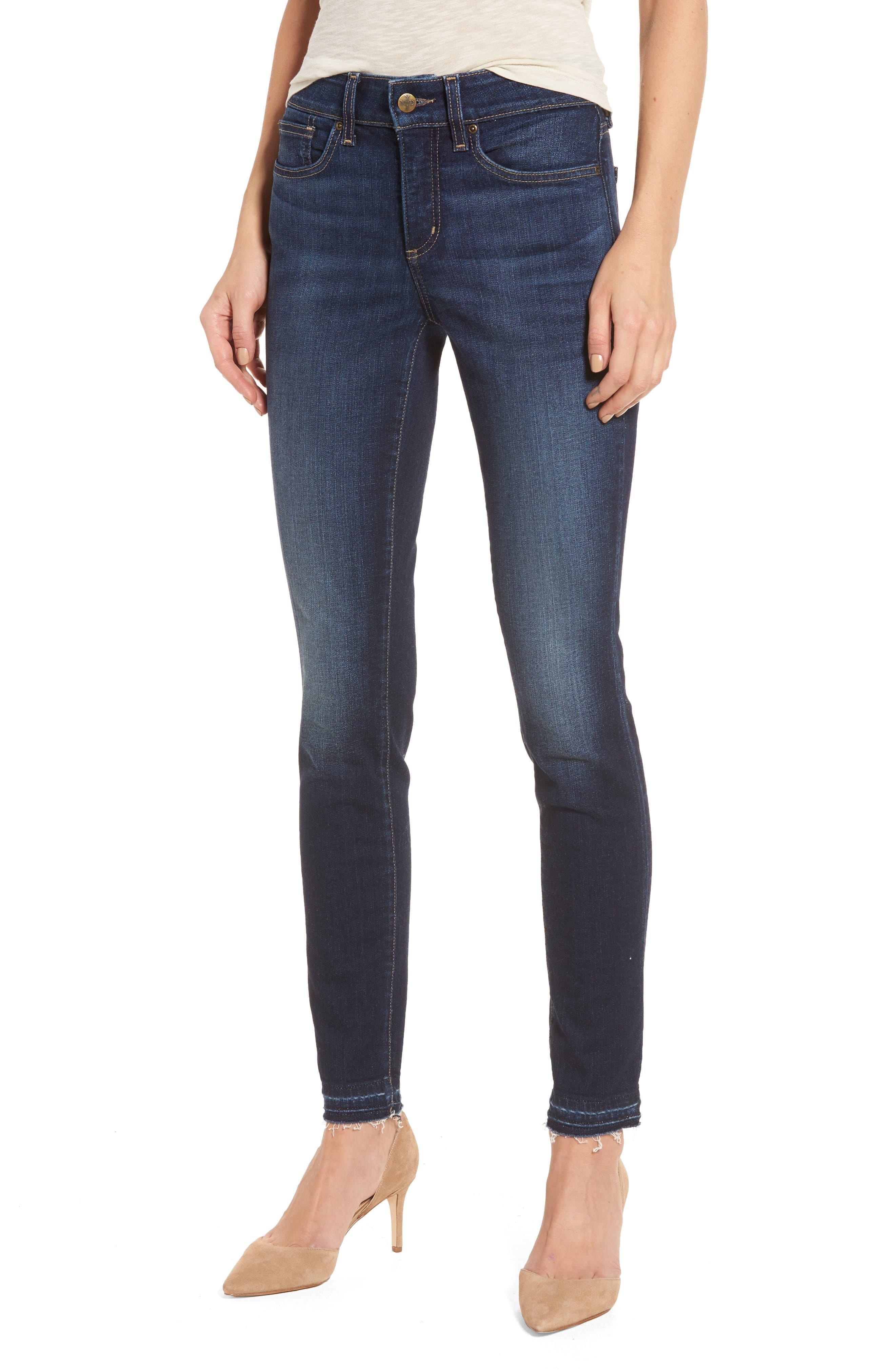 Alina Release Hem Stretch Ankle Jeans,                         Main,                         color, Bezel