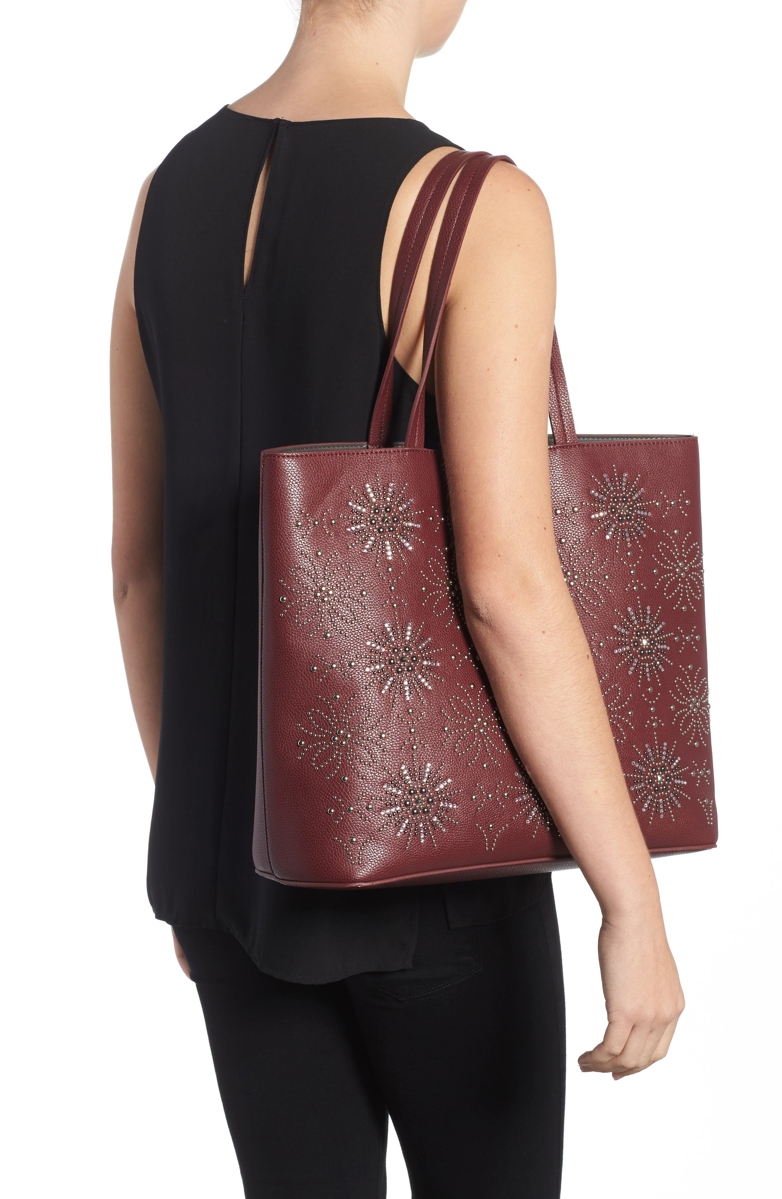 Alternate Image 2  - Chelsea28 Starburst Faux Leather Tote & Zip Pouch