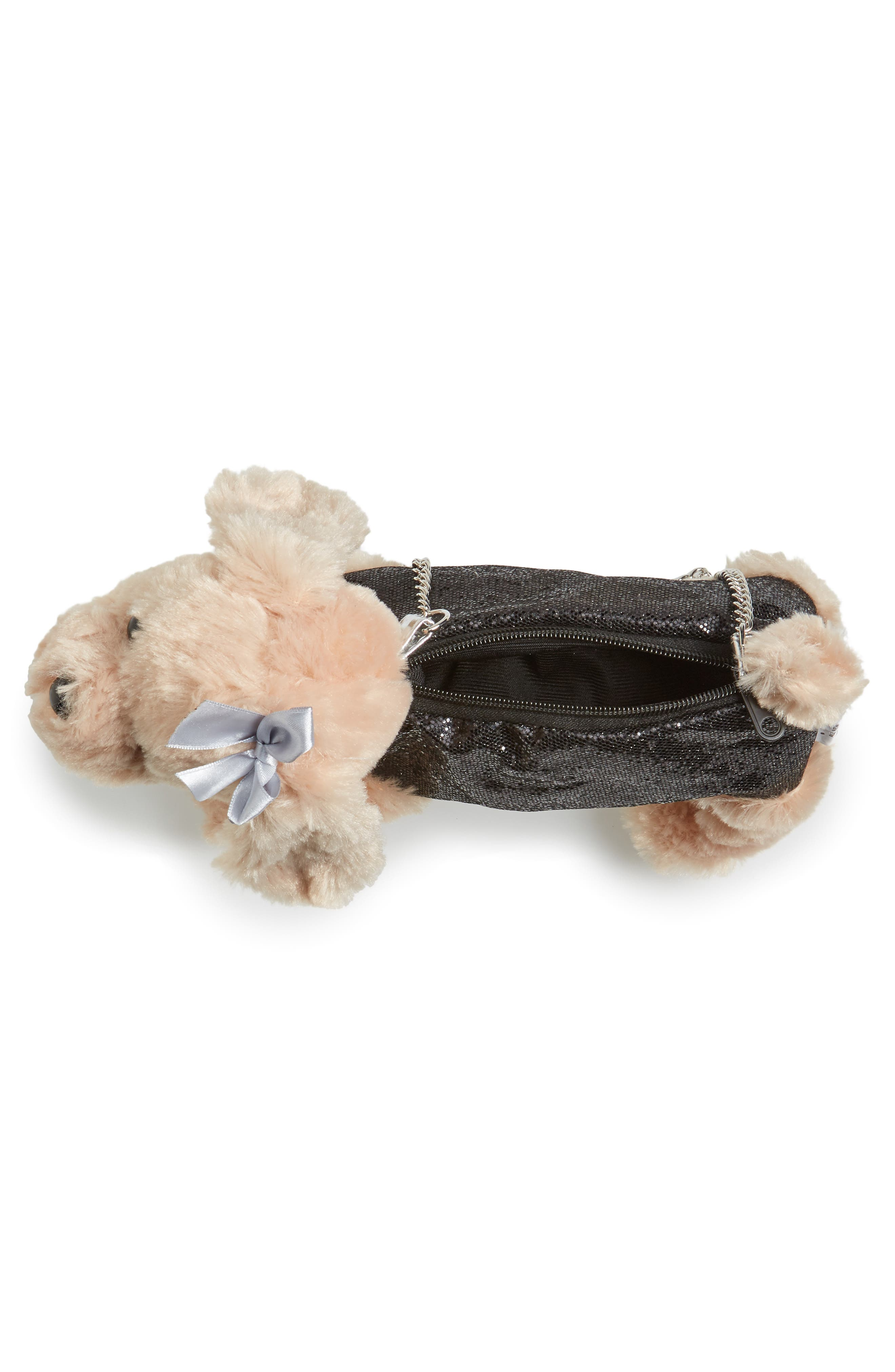 Cocker Spaniel Shoulder Bag,                             Alternate thumbnail 3, color,                             Black Combo