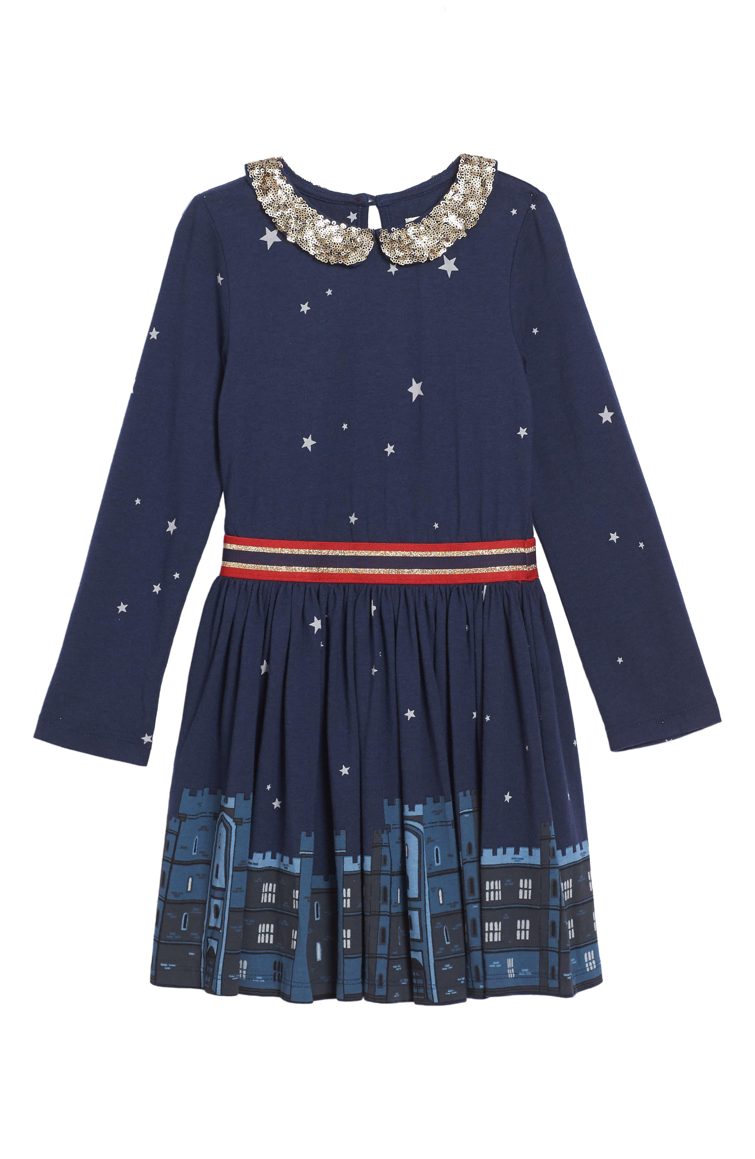 Mini Boden Party Jersey Dress (Toddler Girls, Little Girls & Big Girls)