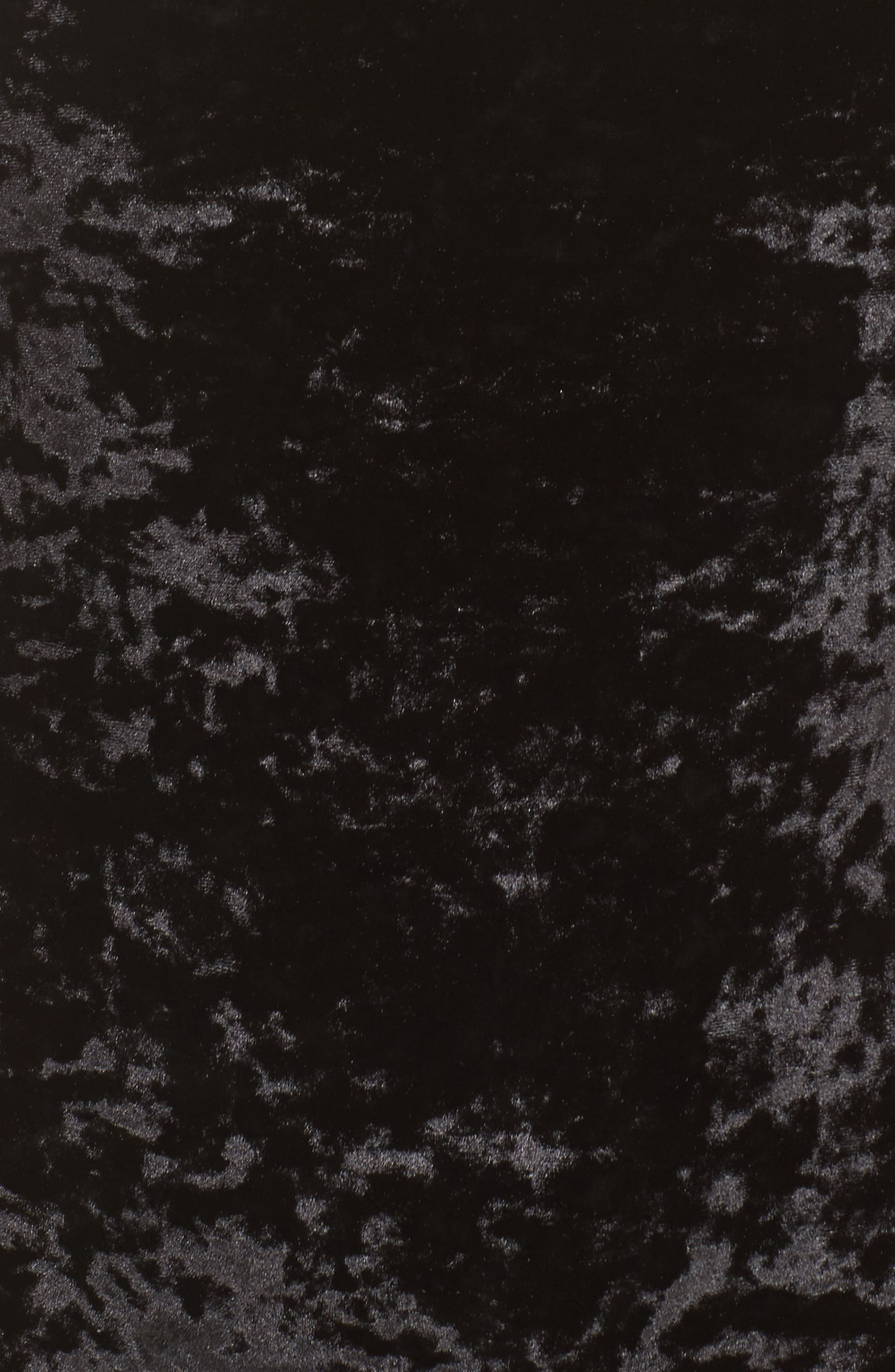 Panne Velvet Bodysuit,                             Alternate thumbnail 6, color,                             Black
