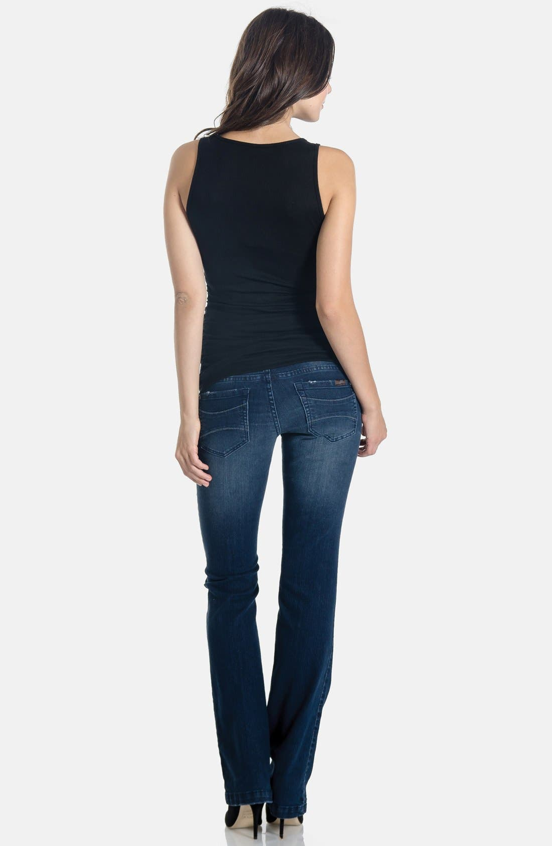 Alternate Image 4  - Lilac Clothing 'Signature' Bootcut Maternity Stretch Jeans