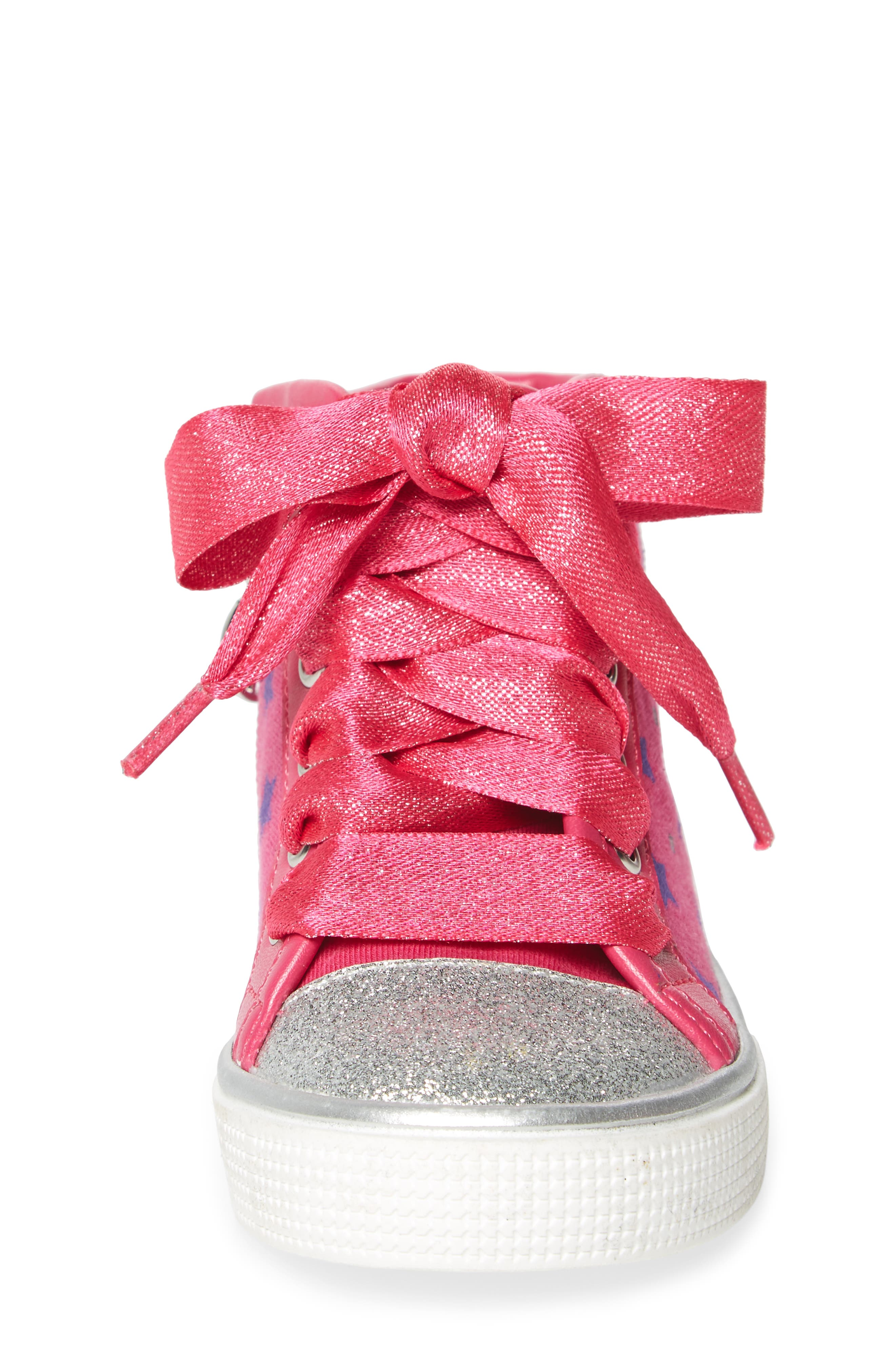 Emerson High Top Sneaker,                             Alternate thumbnail 4, color,                             Pink/ Purple
